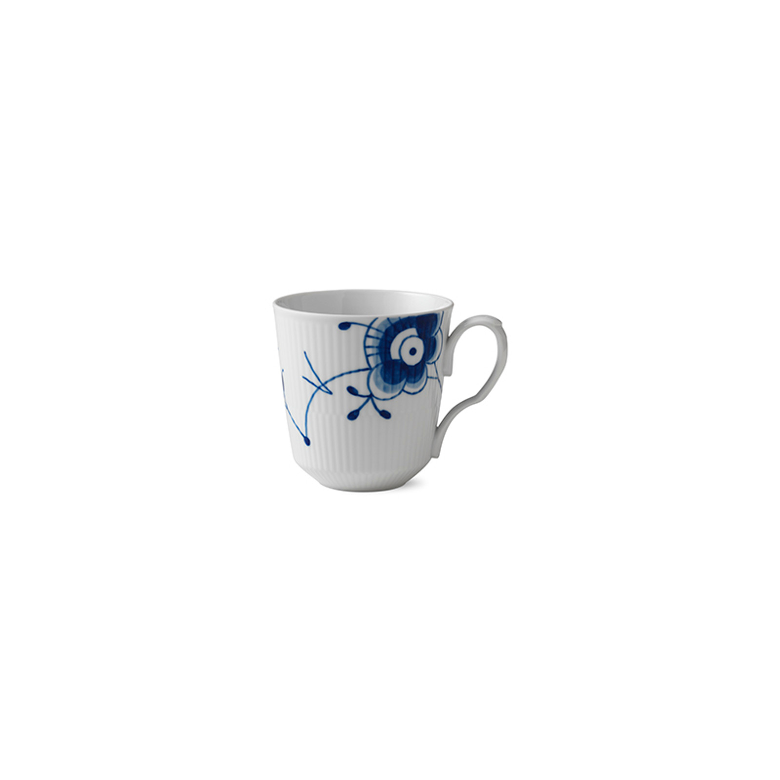 Royal Copenhagen Blue Fluted Mega Latte Mug with Handle, 15.5 oz