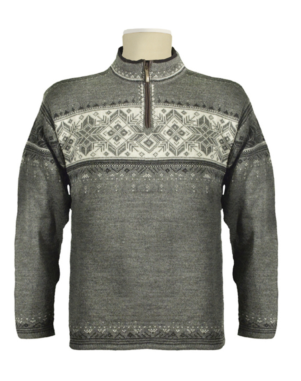 Dale of Norway, Blyfjell Sweater, Unisex, in Smoke/Dark Charcoal/Off White/Light Charcoal, 91291-E