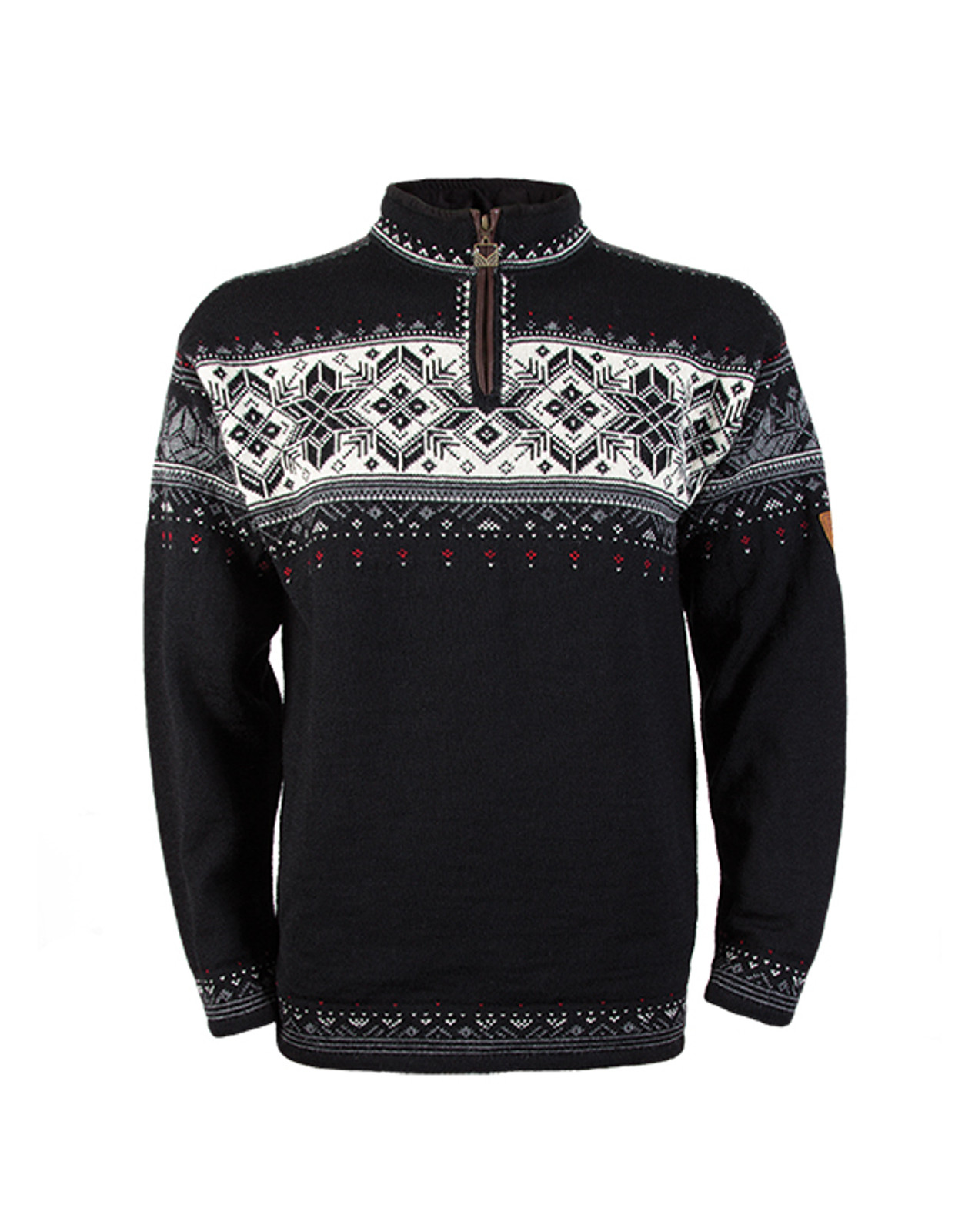 Dale of Norway, Blyfjell Sweater, Unisex, in Black/Off White/Smoke/Raspberry, 91291-F