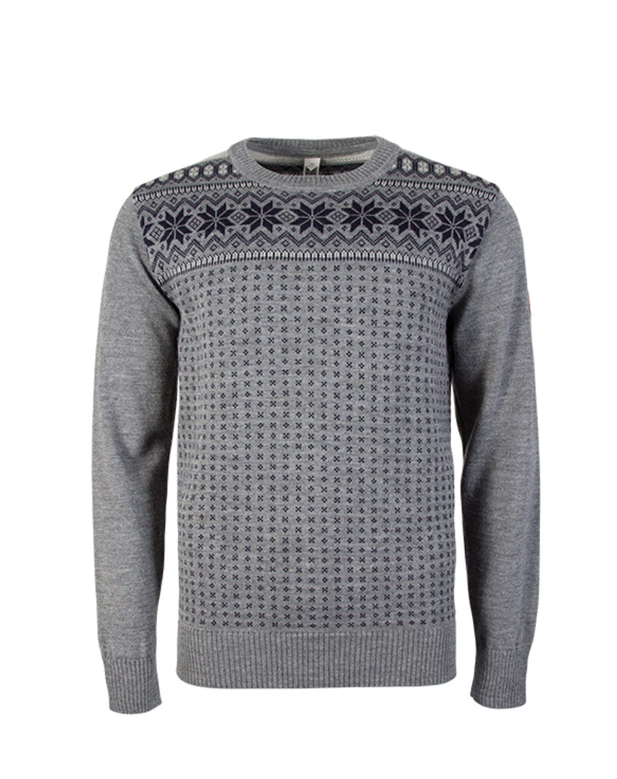 Alternate view of Dale of Norway, Garmisch Sweater, Mens, in Smoke/Navy/Light Charcoal, 92611-T