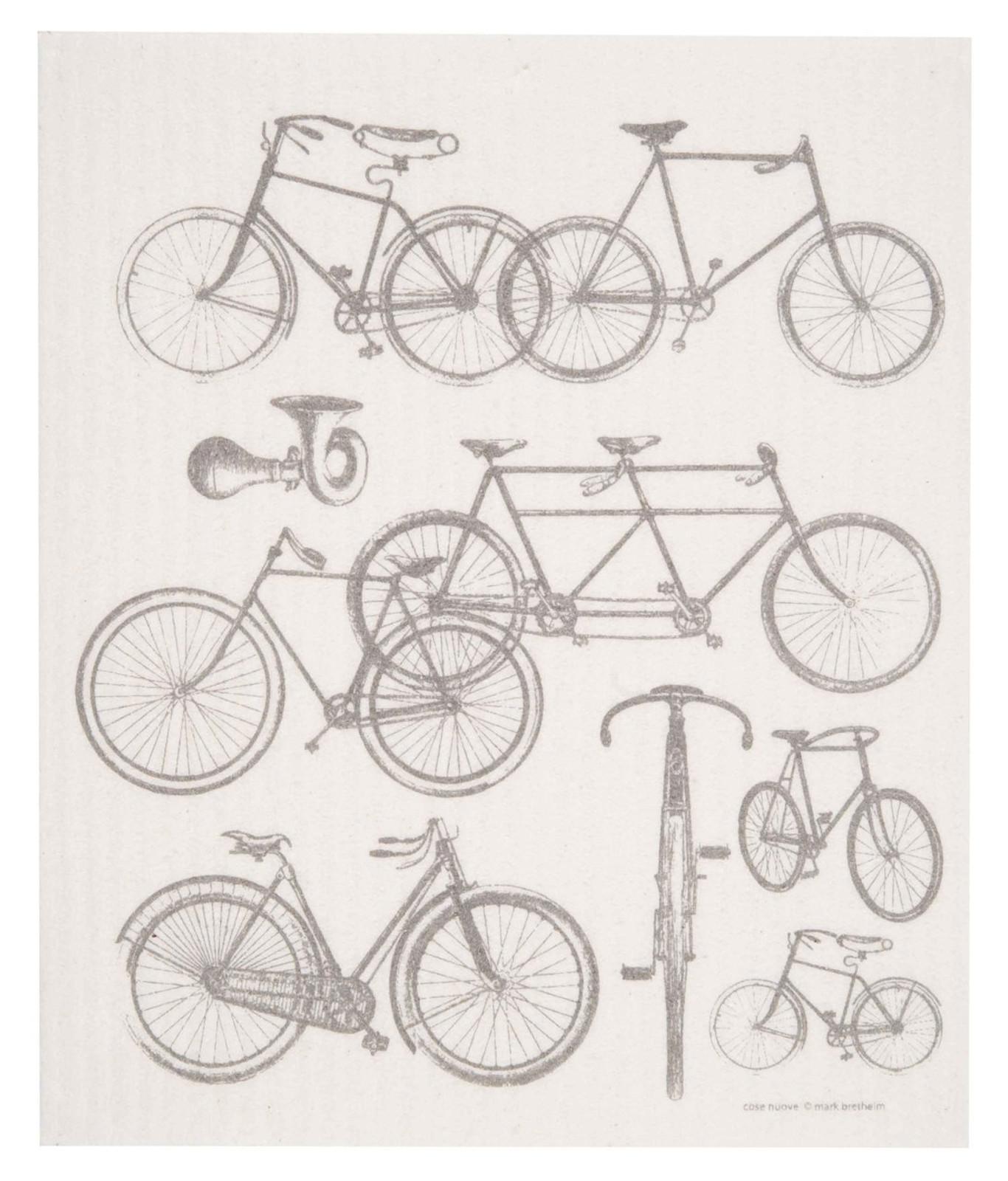 Swedish dish cloth, Bicycles design