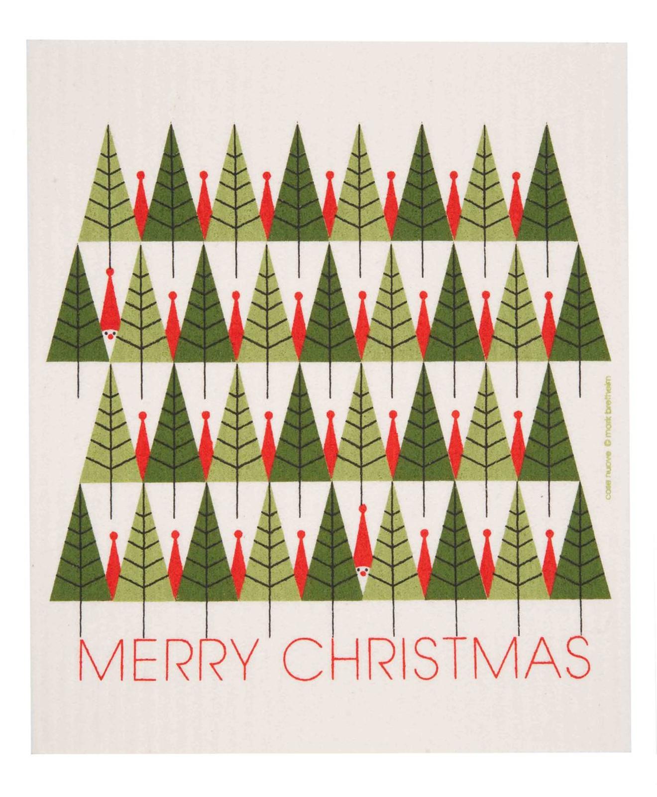 Swedish Christmas dish cloth, Merry Christmas design