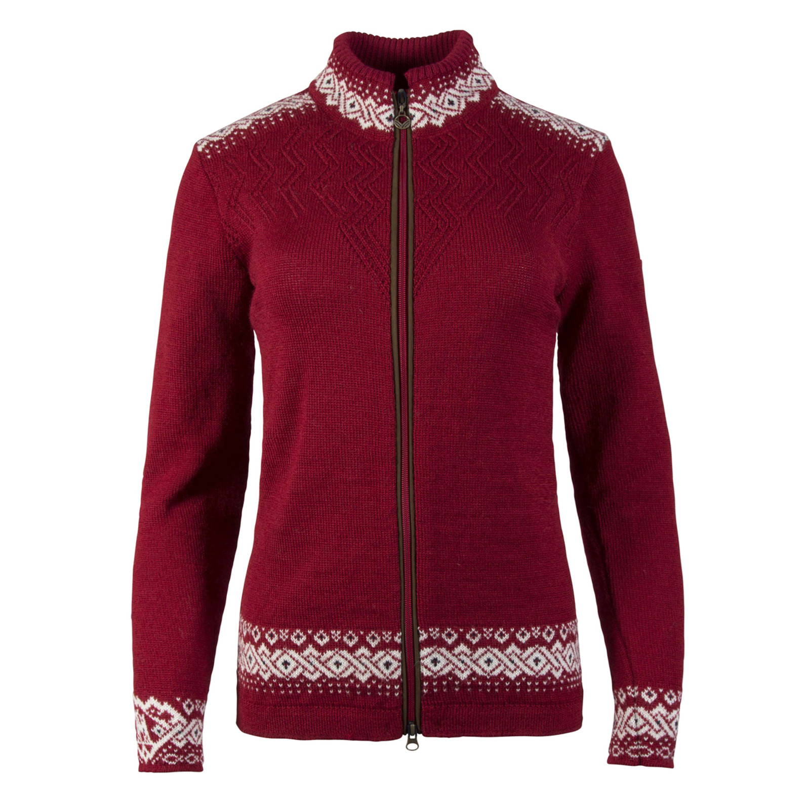 Dale of Norway Bergen  cardigan, ladies, Red Rose/Off White/Navy, 83181-B, on sale at The Nordic Shop