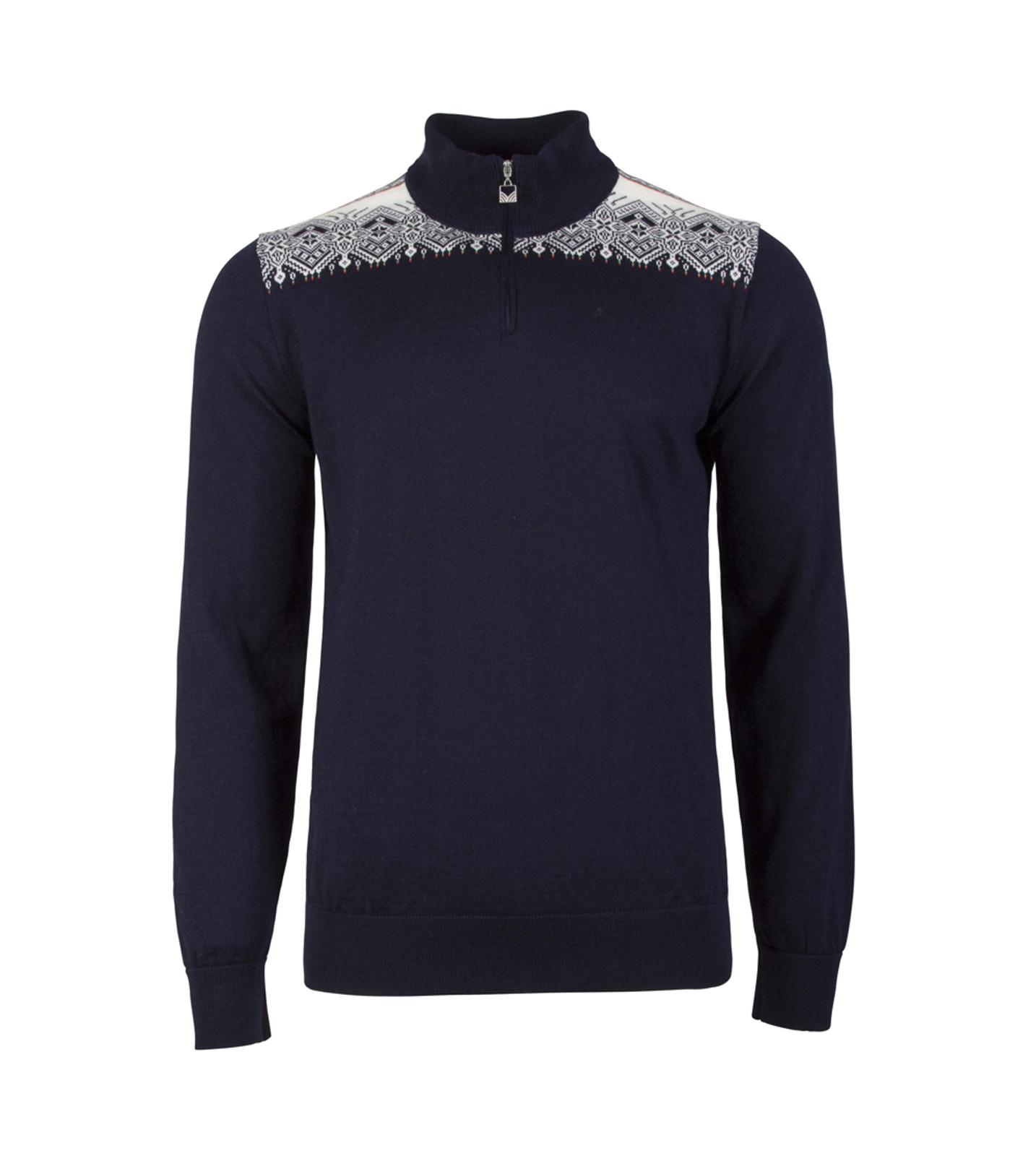 Dale of Norway Fiemme Sweater, mens, in Navy/Raspberry/Orange Peel/Peacock/Off White, 93421-C