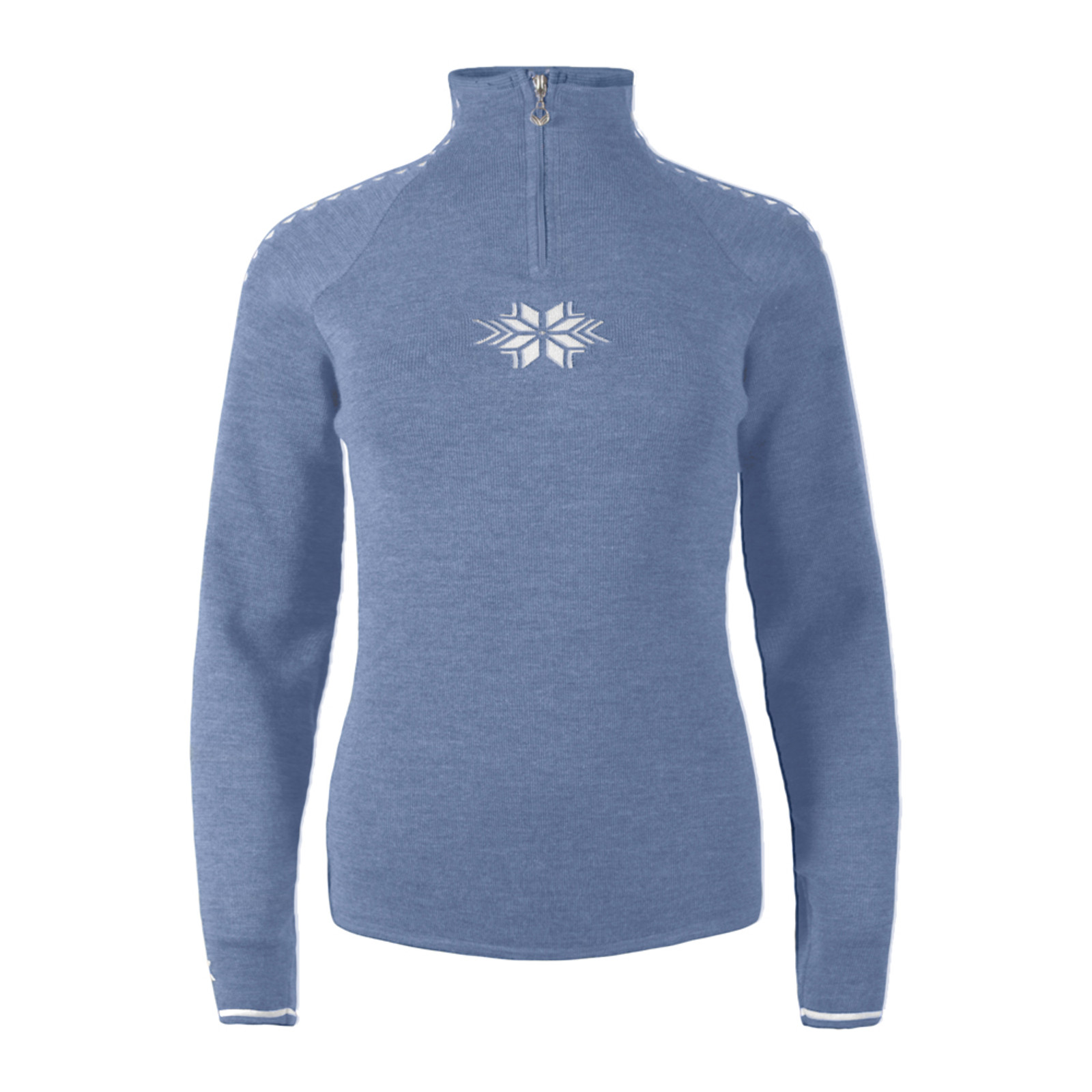 Ladies Dale of Norway Geilo Sweater in Blue Shadow/Off White, 82311-D