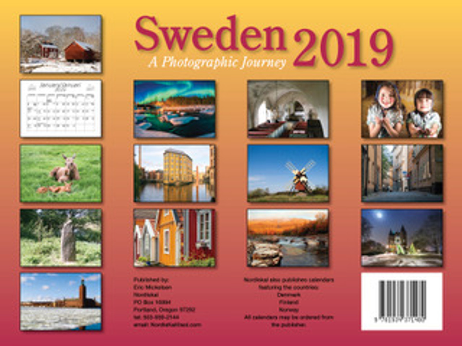 2019 Nordiskal Sweden Calendar in Photographs - Back Cover