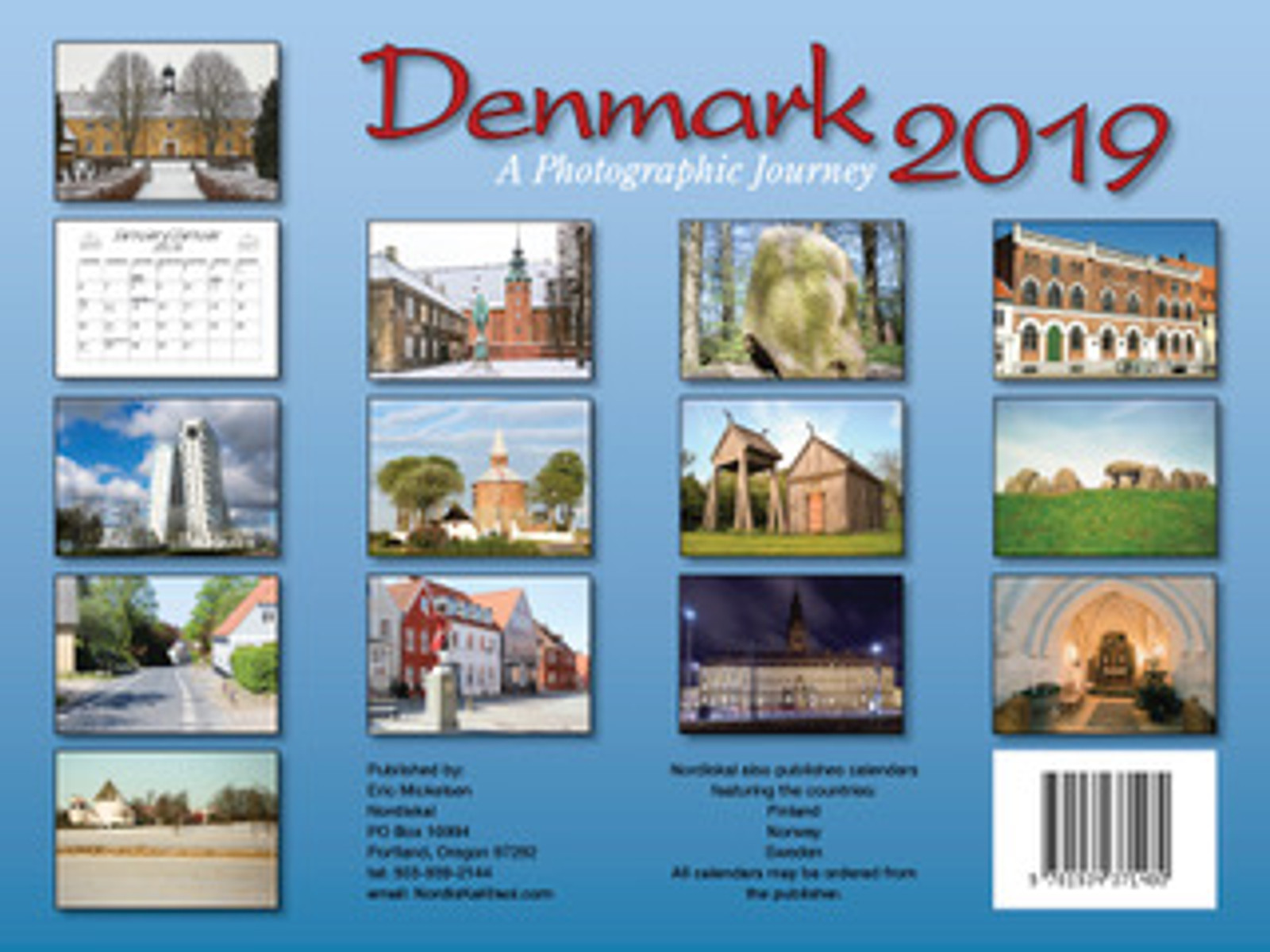 2019 Denmark Calendar in Photographs - Nordiskal Back Cover