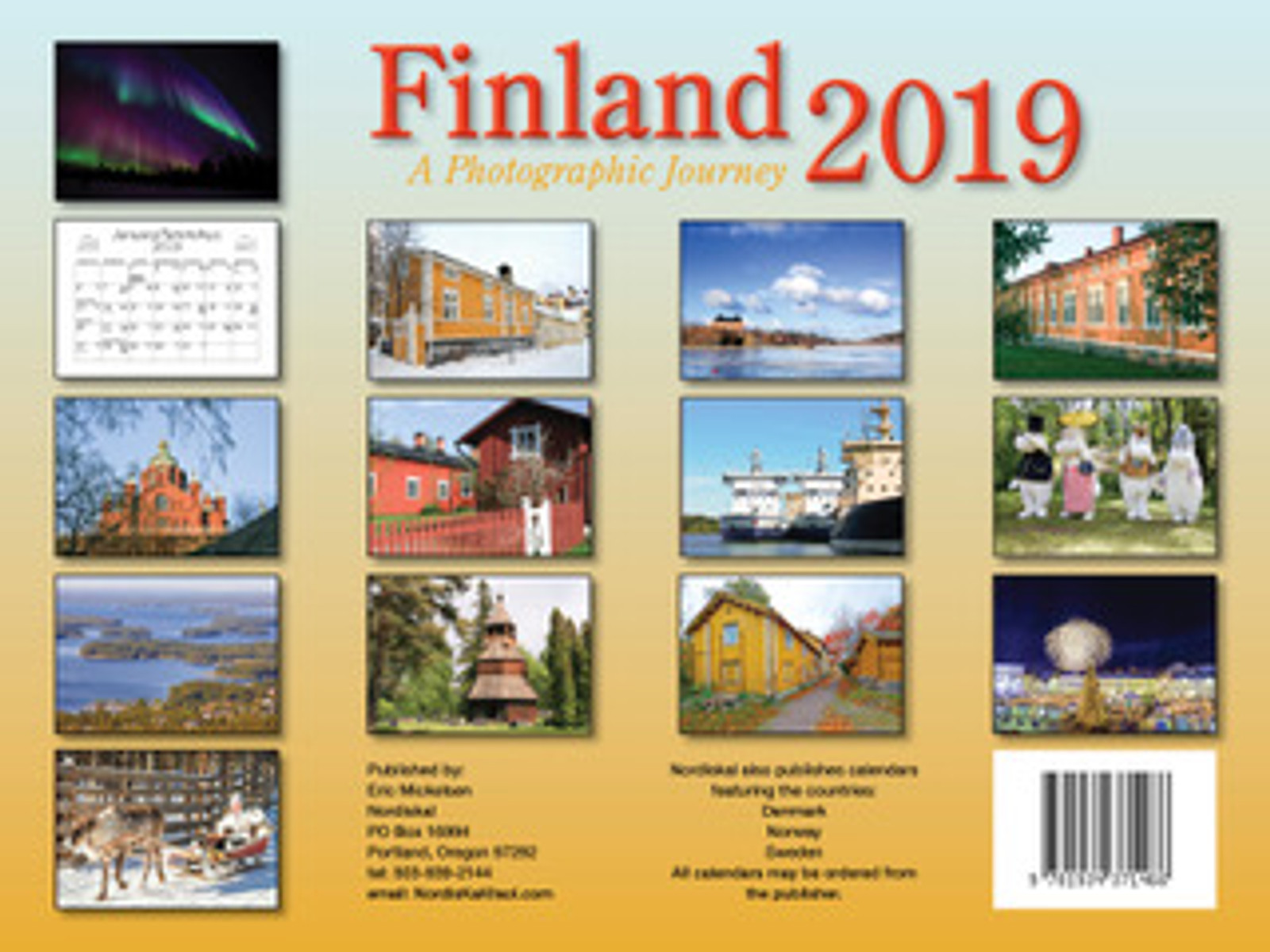 2019 Finland Calendar in Photographs - Nordiskal Back Cover
