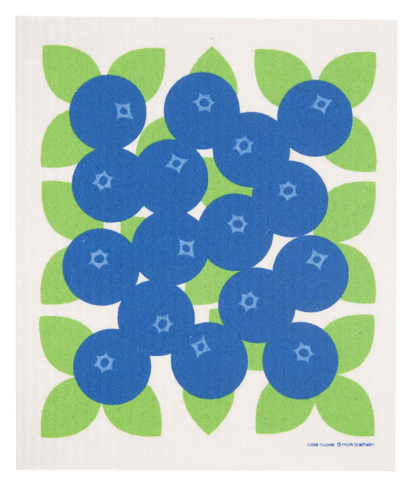 Swedish dish cloth, Blueberries design