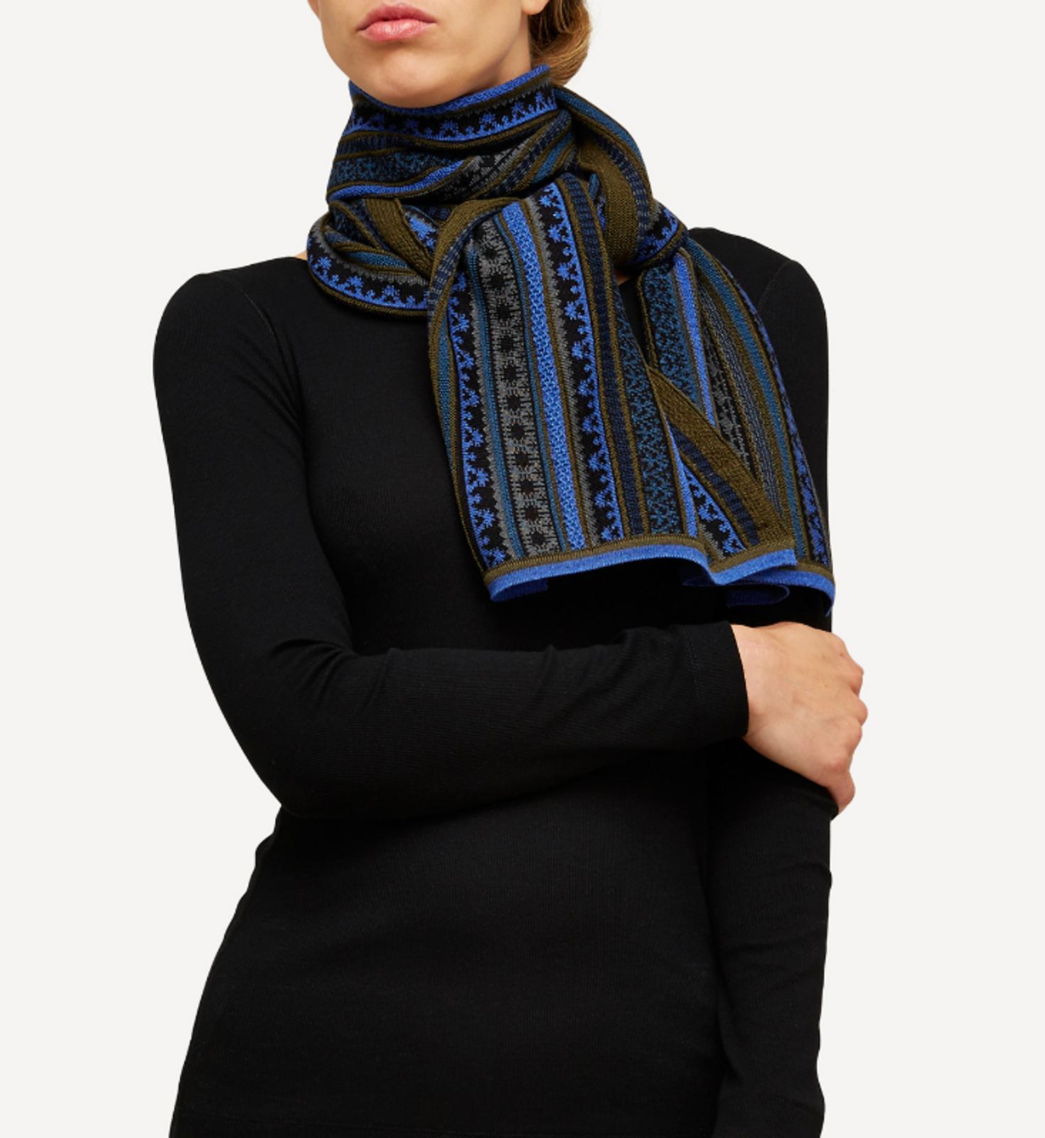 Oleana Scarf, 334P Blue