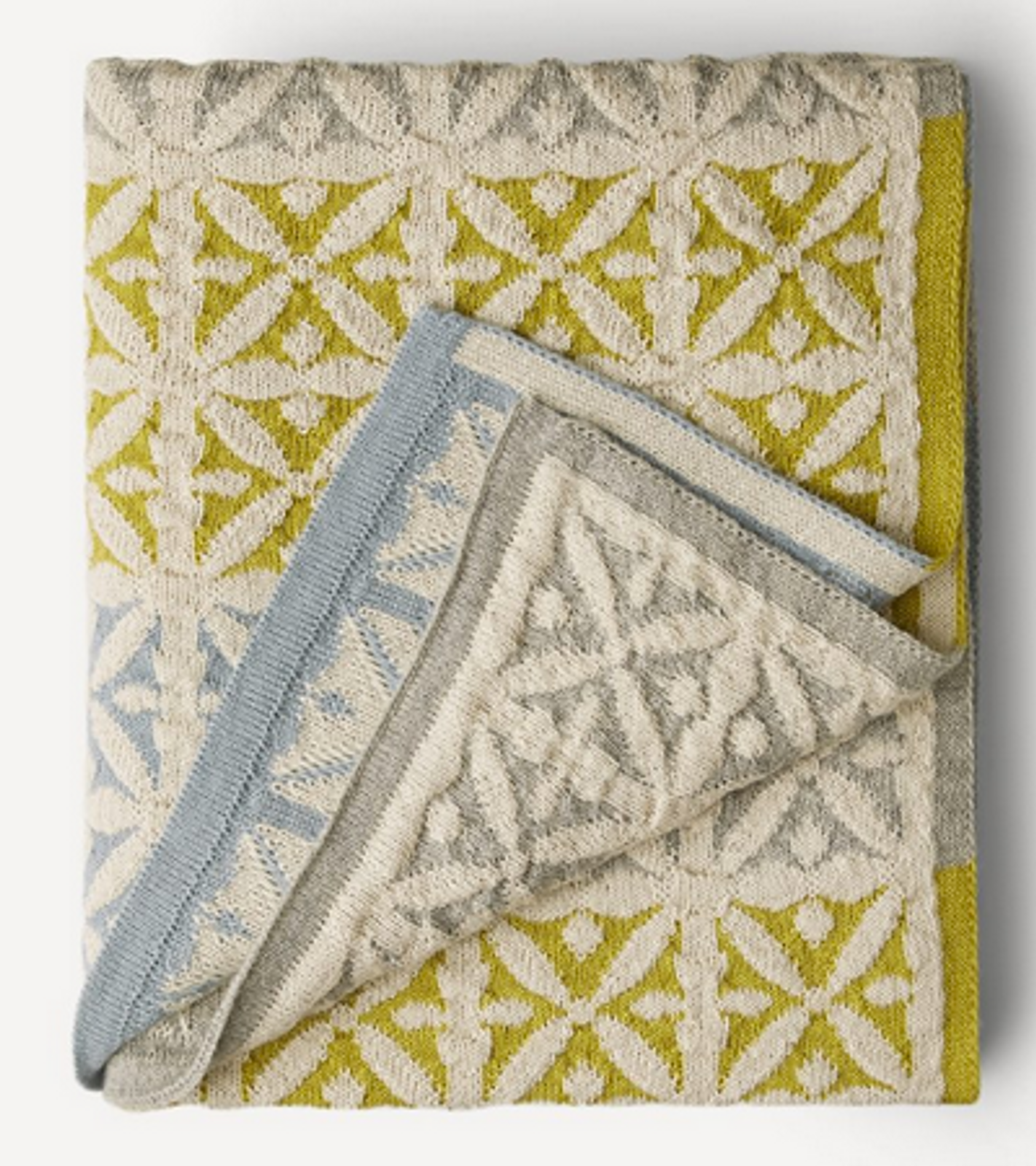 Agneta Oleana Knitted Blanket, 427Q Light Blue