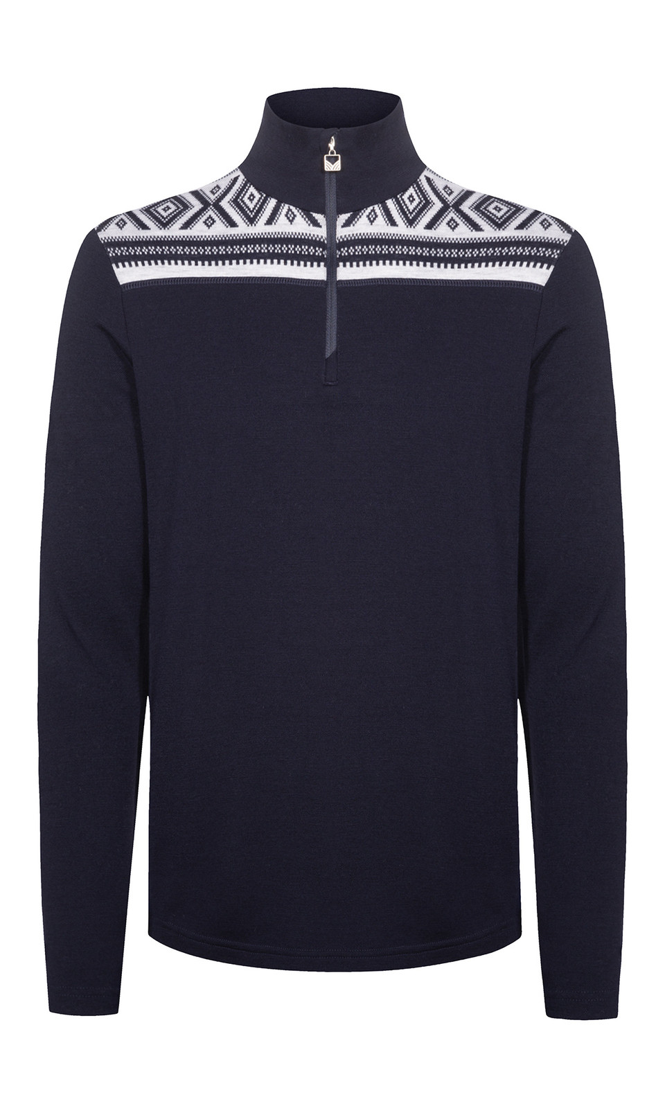 Dale of Norway Cortina Basic Men's Sweater (Base Layer), Navy/Off-White, 93531C