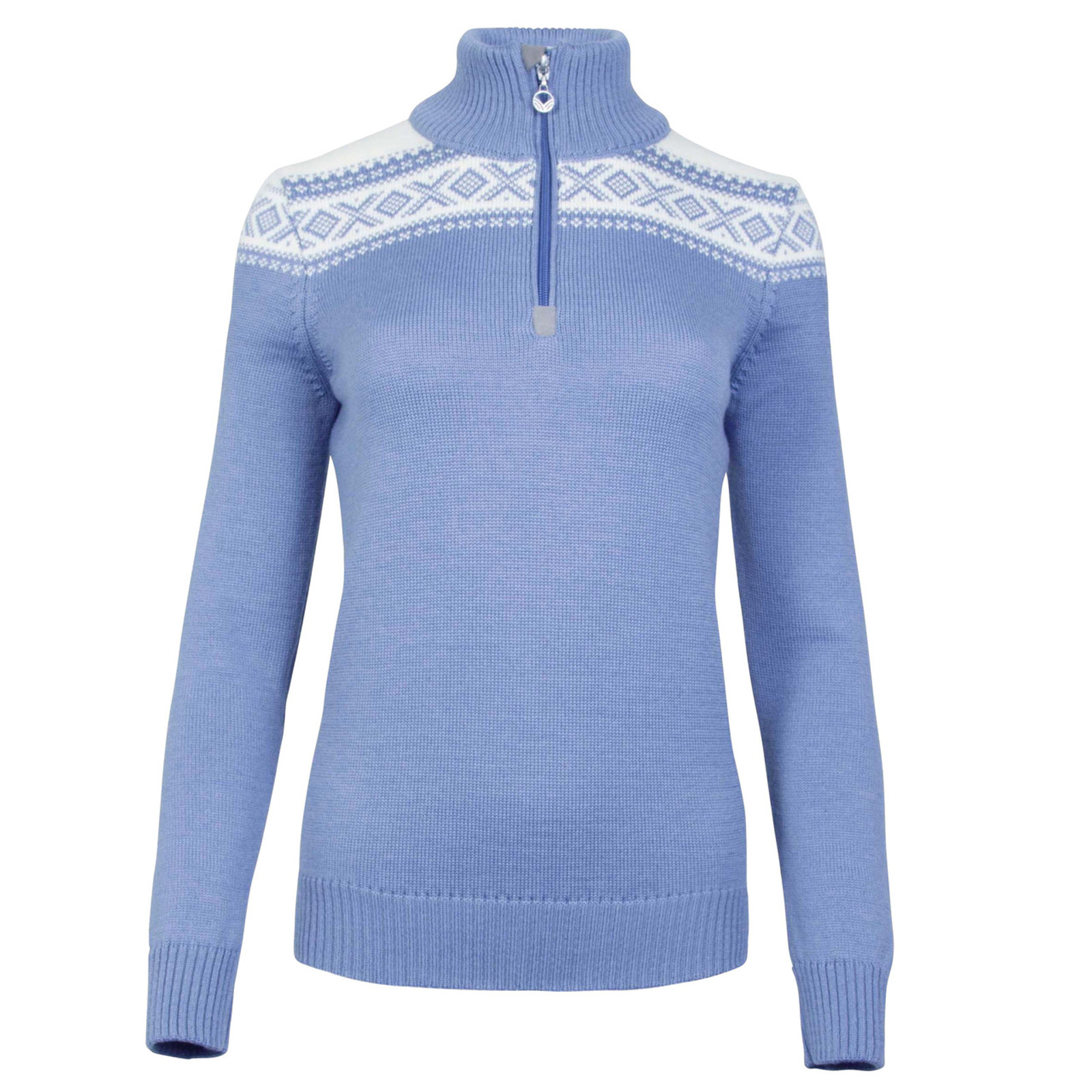 Dale of Norway Cortina Merino sweater in Blue Shadow/Off-White, 93811-D
