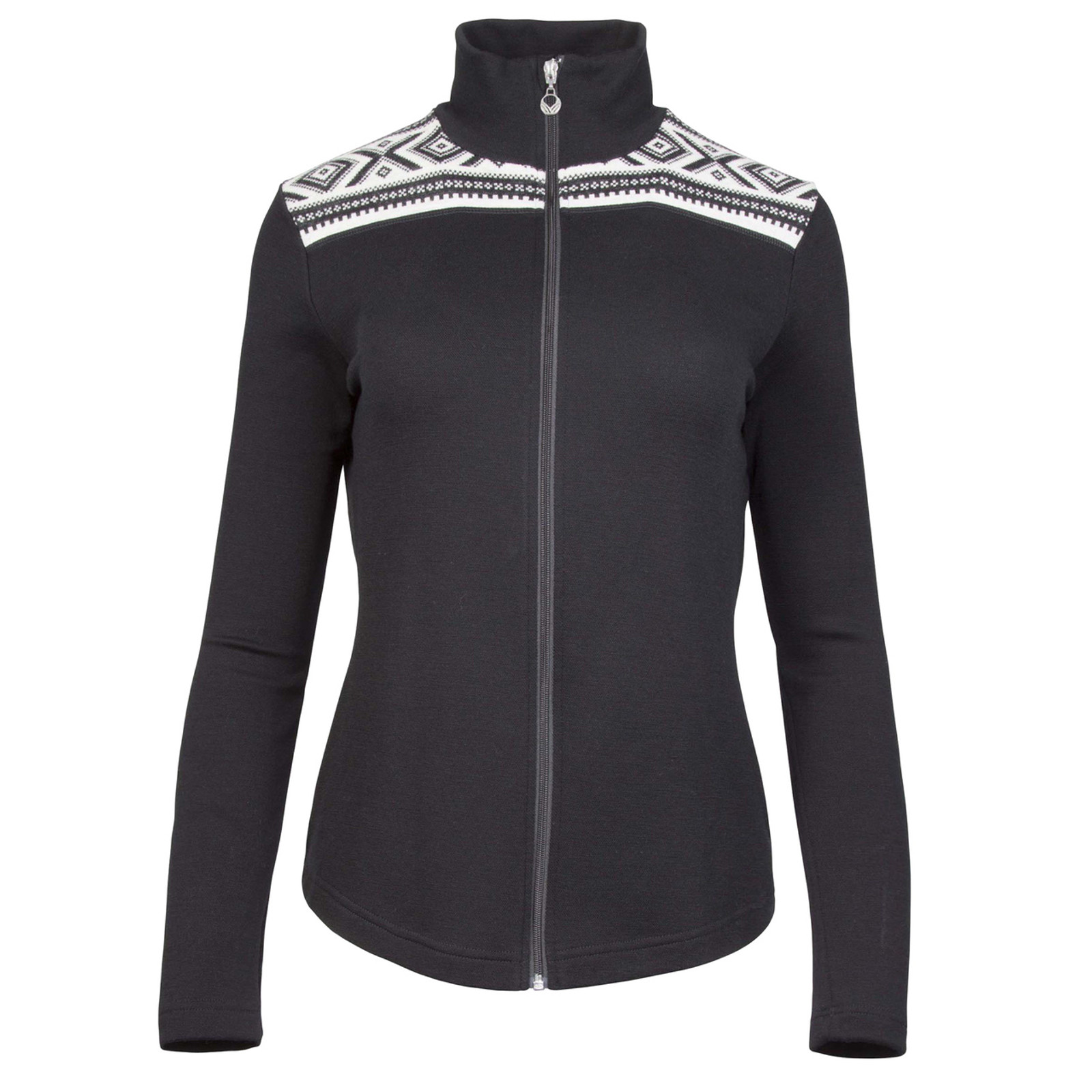 Dale of Norway, Cortina merino cardigan, ladies, in Black/Off White, 83311-F