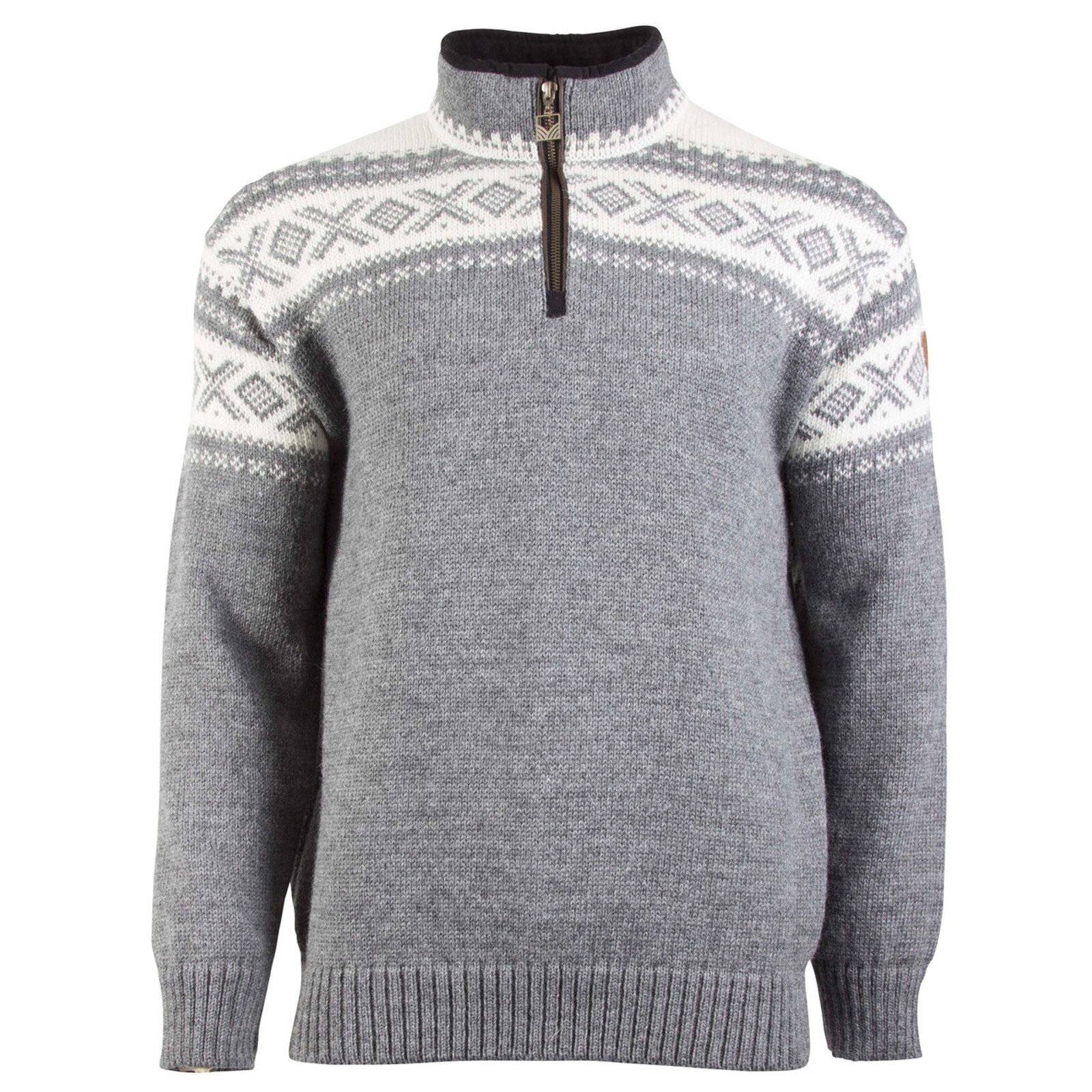 Dale of Norway, Cortina Half Zip sweater, Unisex, in Smoke/Off-White, 93561-E