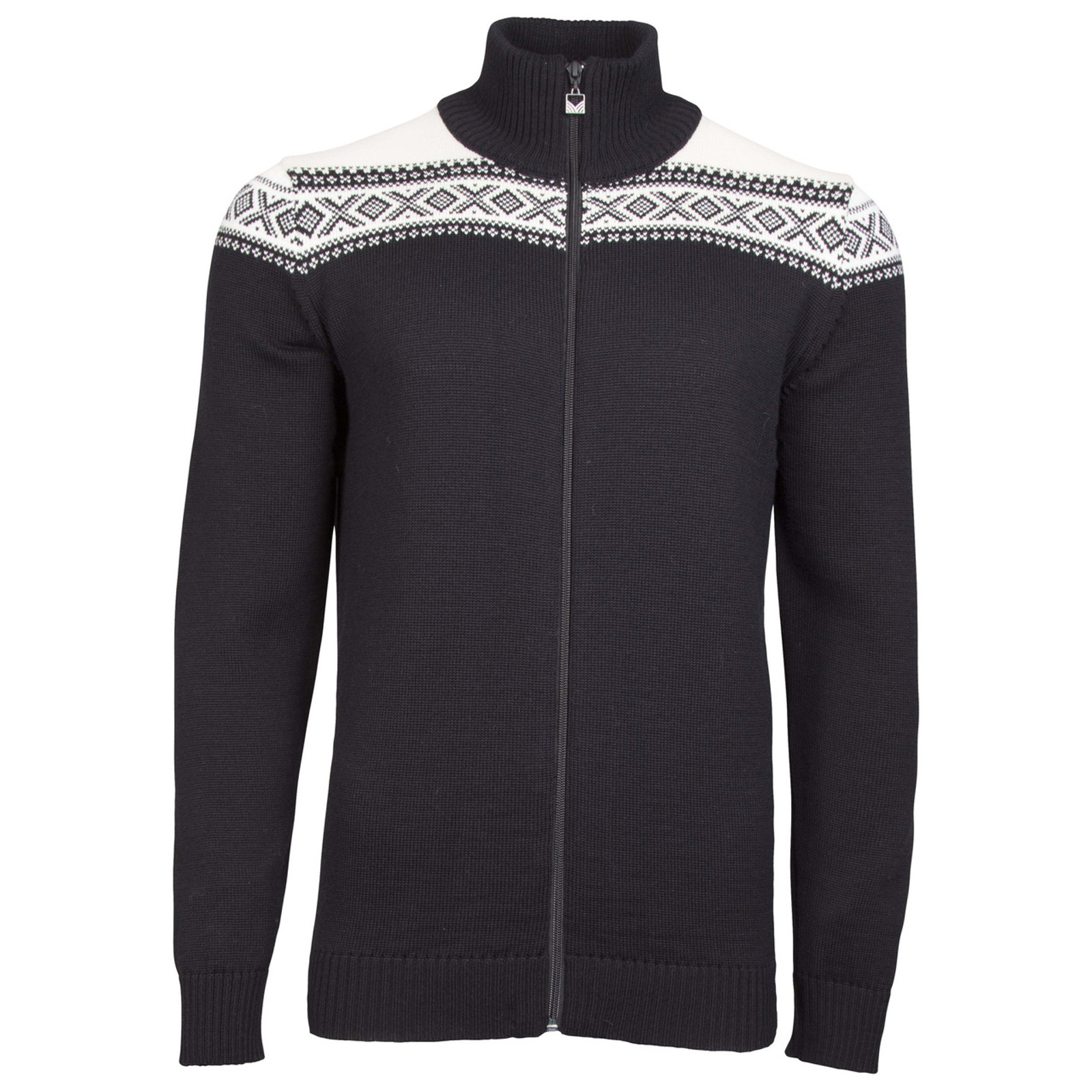 Dale of Norway Men's Cortina Merino Cardigan in Black/Off White, 83321-F