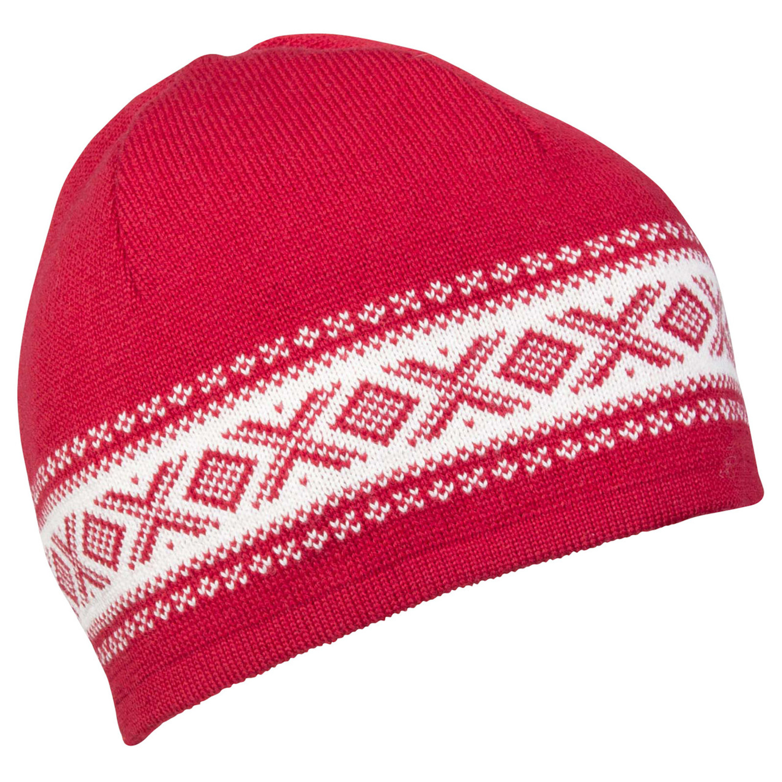 Dale of Norway, Cortina Merino Hat in Raspberry/Off White, 48211-B