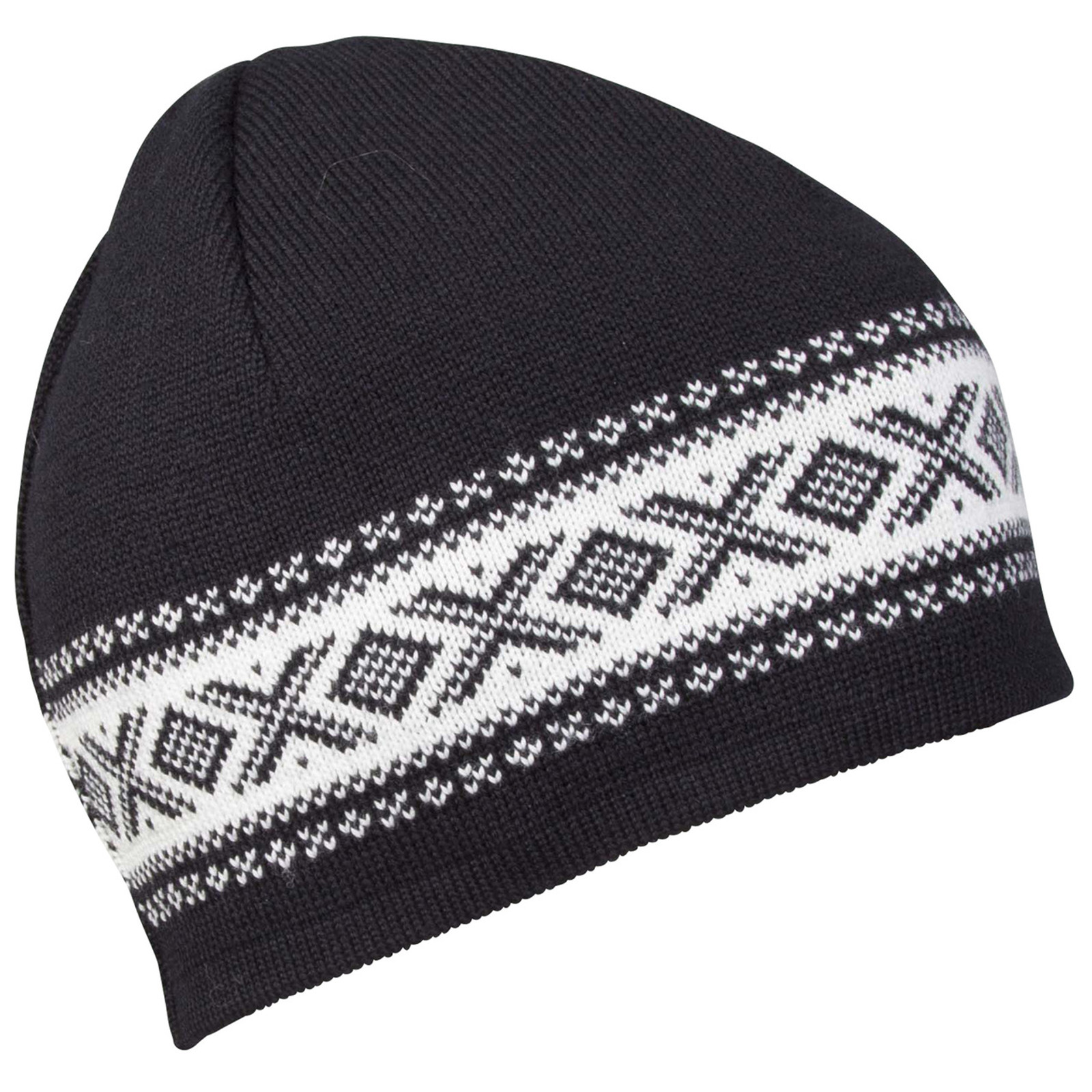 Dale of Norway, Cortina Merino Hat in Black/Off White, 48211-F