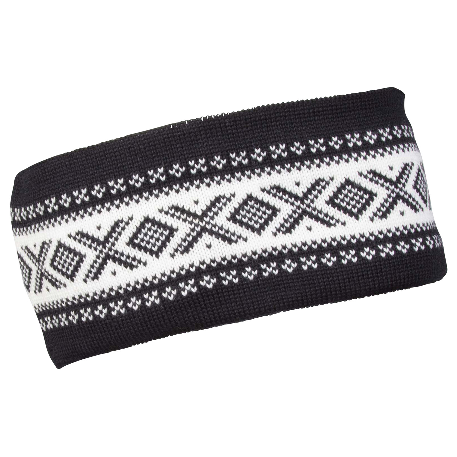 Dale of Norway Cortina Merino Headband - Black/Off White, 26021-F