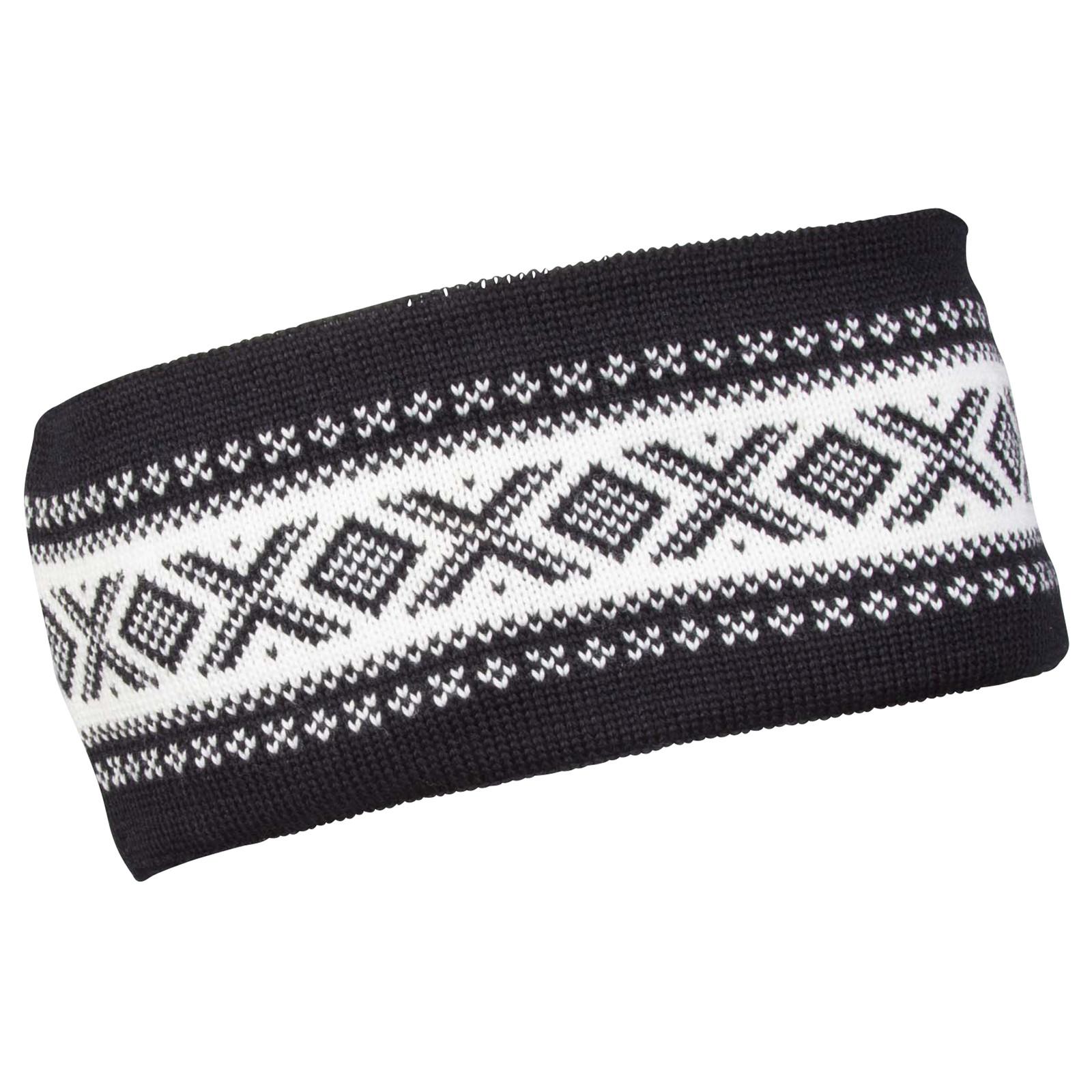 Dale of Norway Cortina Merino Headband - Black/Off White, 26021-F
