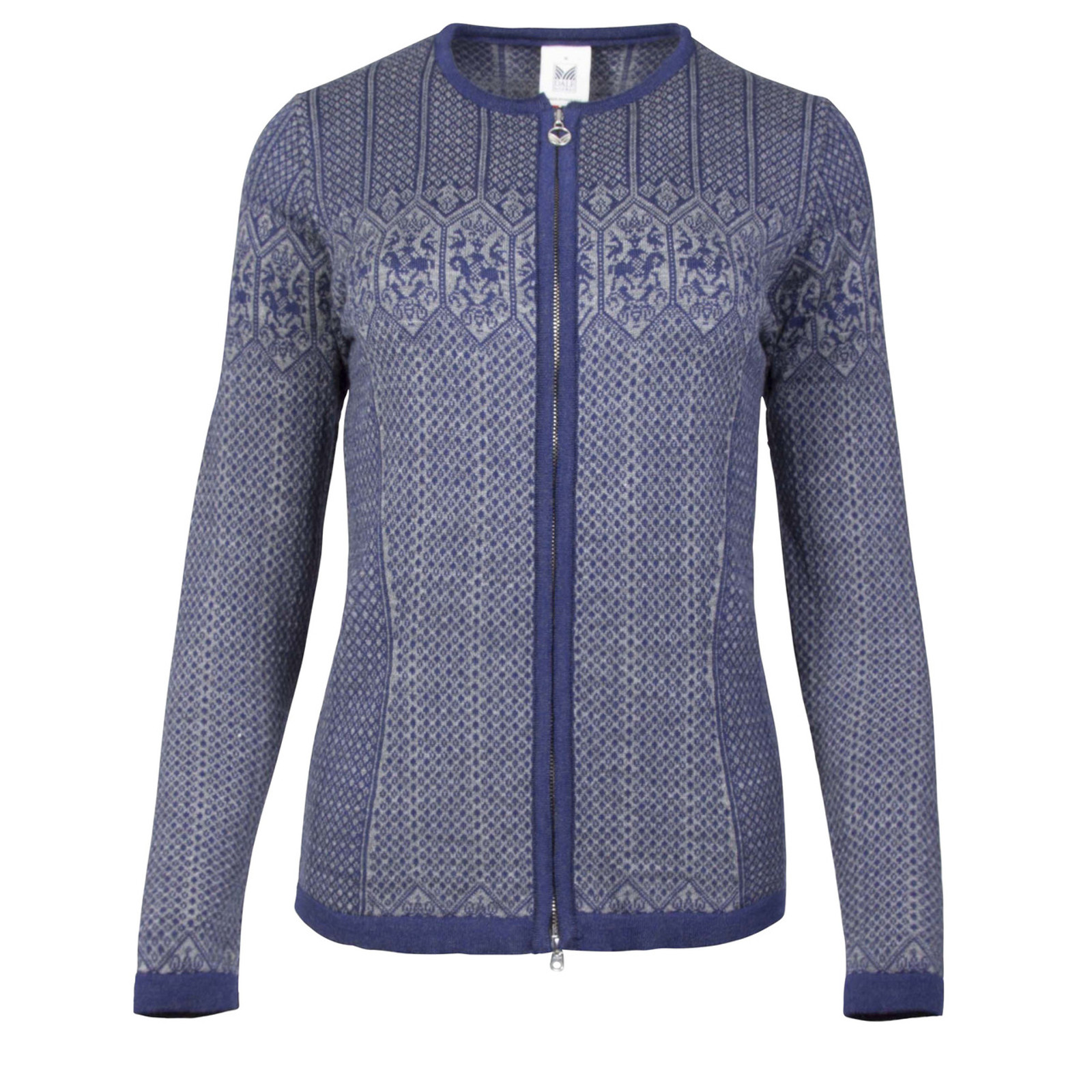 Dale of Norway, Sigrid cardigan, ladies, in Electric Storm/Smoke, 82071-C, on sale at The Nordic Shop