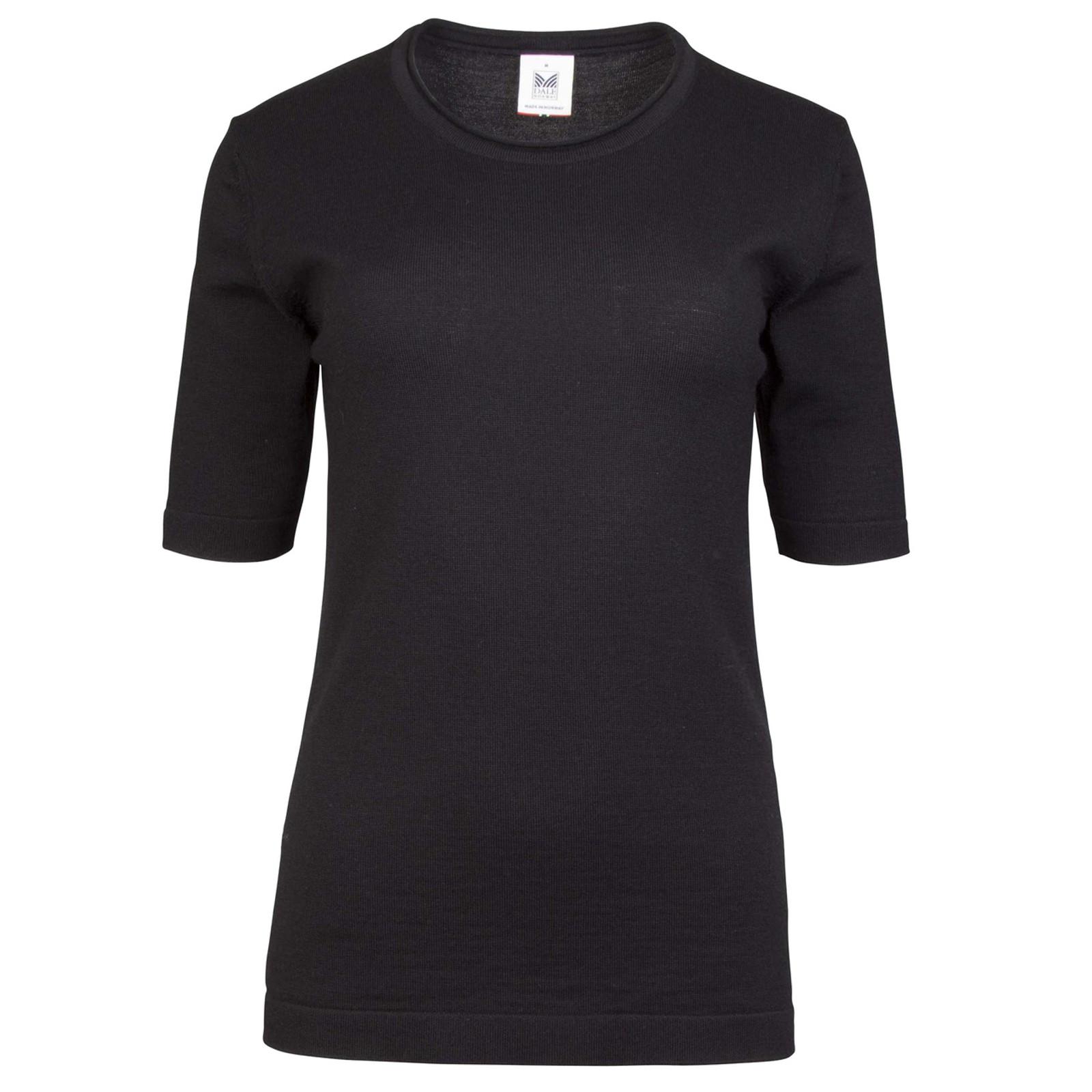 Dale of Norway Stjerne Ladies T-shirt, in Black/Dark Charcoal, 93741-F