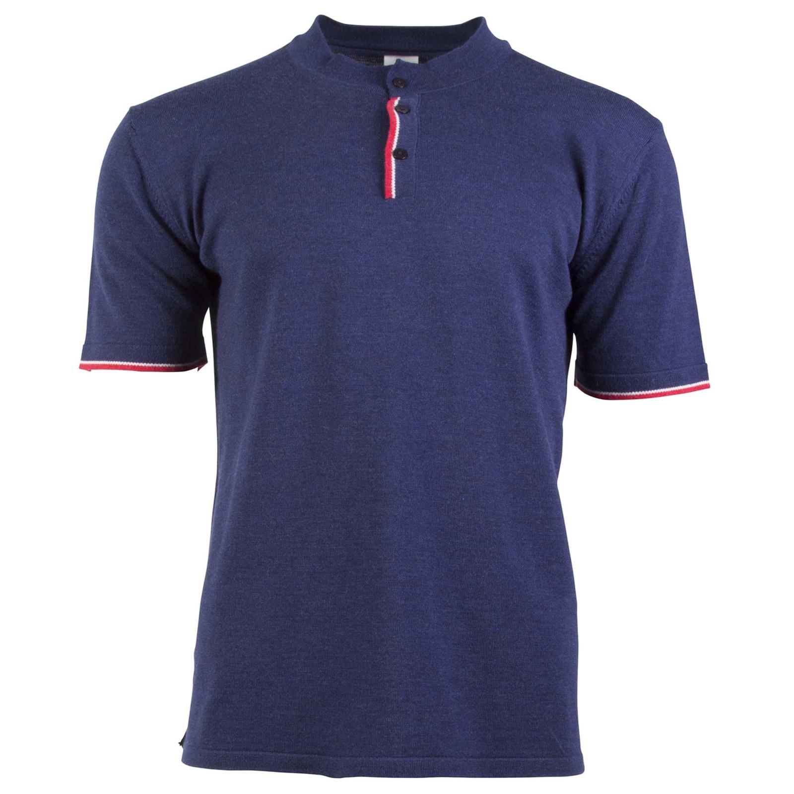Dale of Norway Fredrik Men's T-shirt, in Navy/Off White Mel/Raspberry, 93771-C