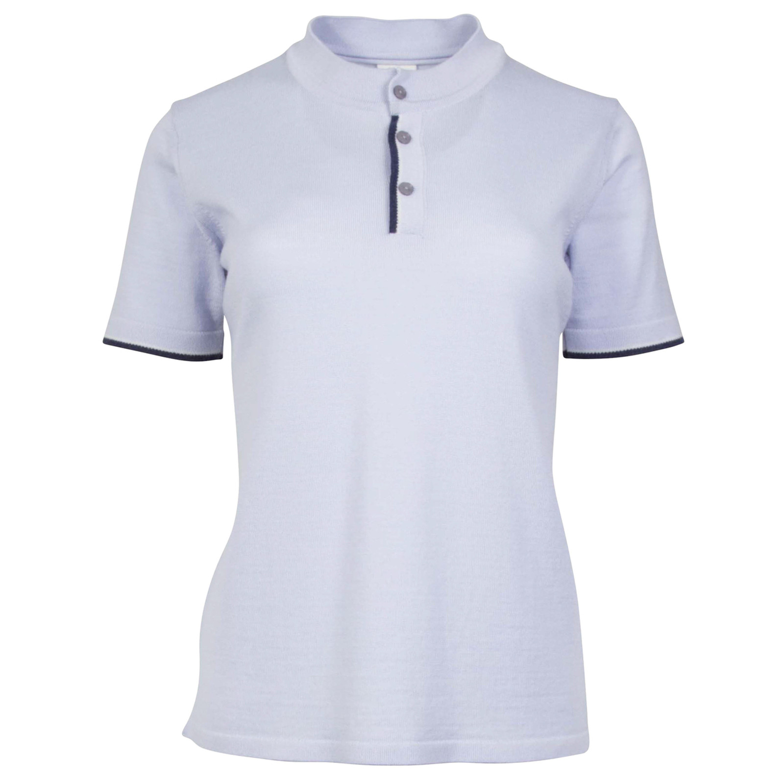 Dale of Norway Fredrikke Ladies T-shirt, in ce Blue/Navy/Off White Mel, 93841-D