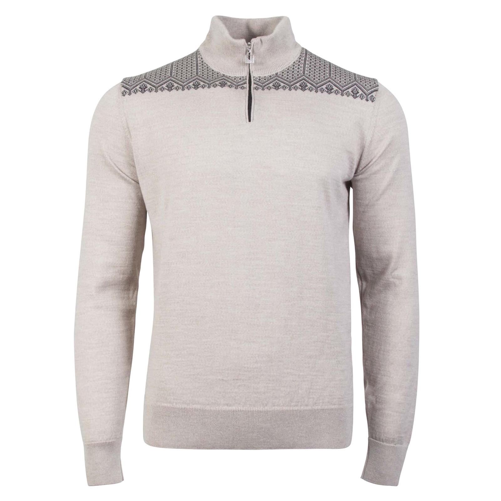 Dale of Norway, Anniversary sweater, unisex, in Sand Mel/Dark Grey Mel, 93851-P