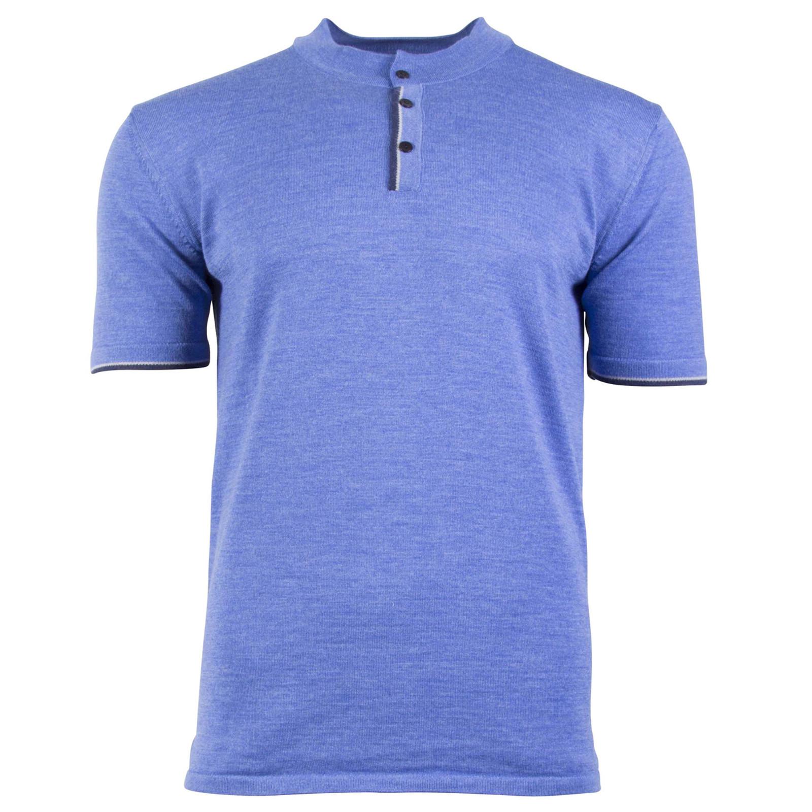Dale of Norway Fredrik Ladies T-shirt, in Medium Blue Mel/Light Grey/Off White Mel/Navy Mel, 93771-H