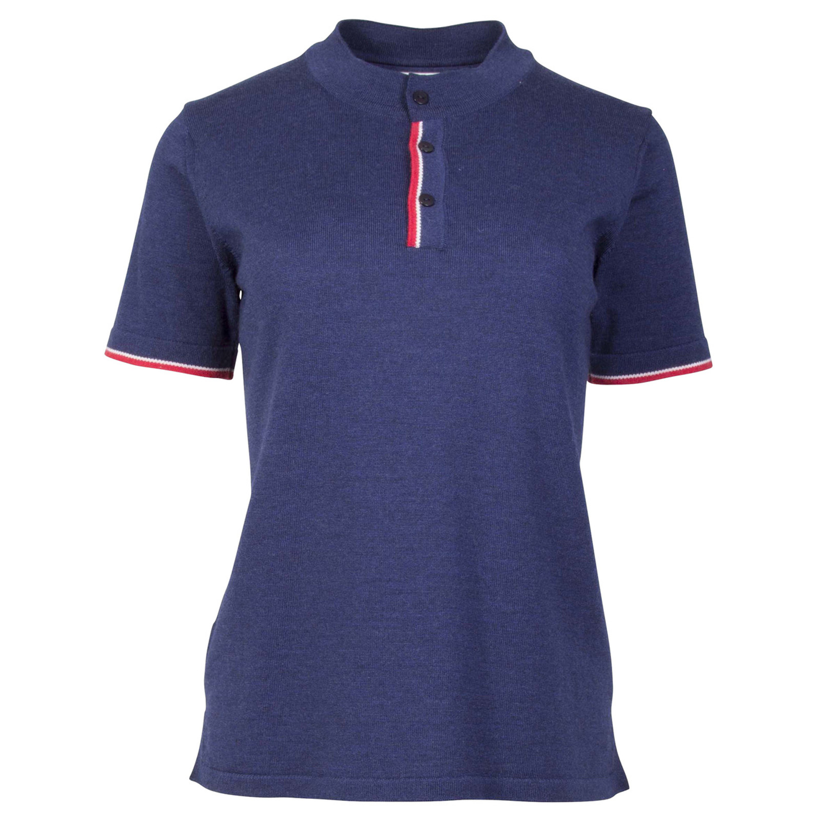 Dale of Norway Fredrikke Ladies T-shirt, in Navy/Red Rose/Off White, 93841-C