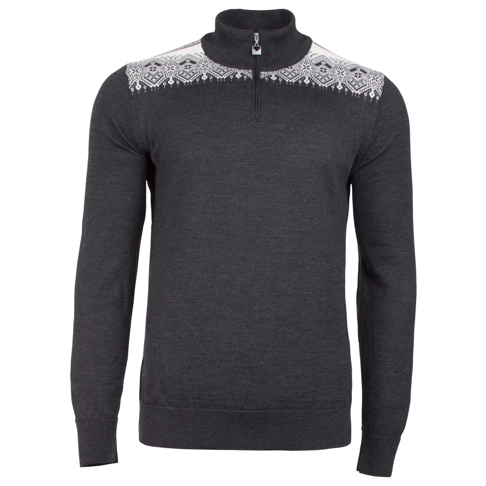 Dale of Norway Fiemme Sweater, mens, in Dark Charcoal/Grau Vig/Raspberry/Off White, 93421-T