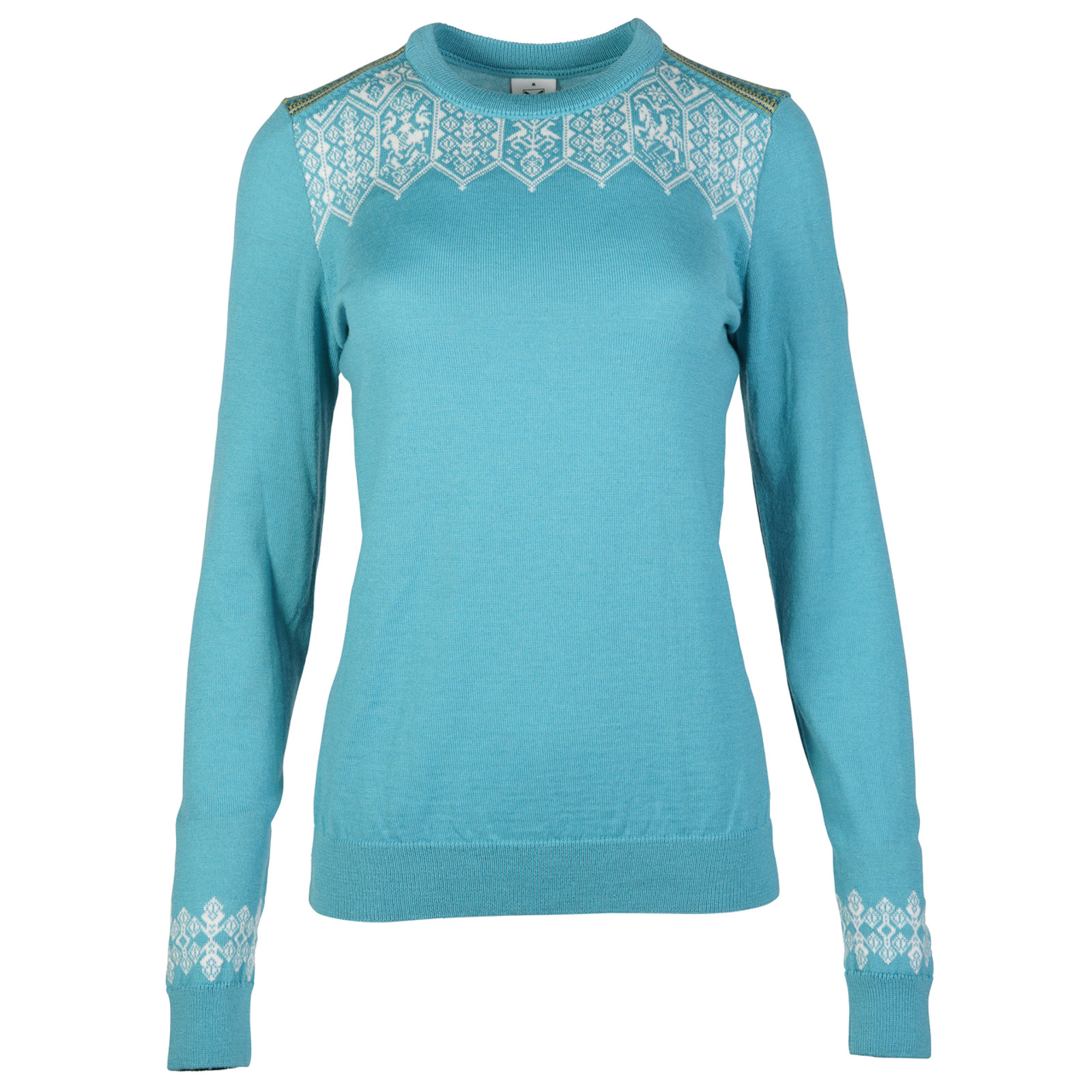 Ladies Dale of Norway Lillehammer Sweater in Turquoise 93261-G