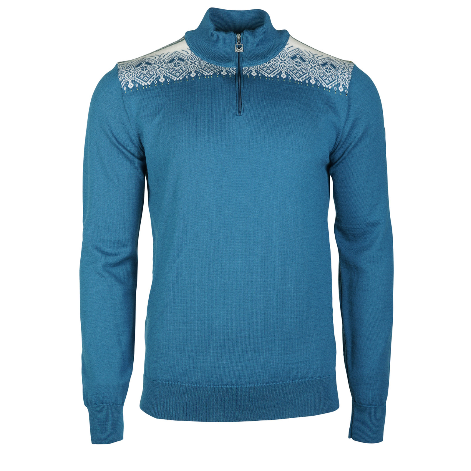 Dale of Norway Fiemme Sweater, mens, in Arctic Blue/Sweethoney/Turquoise/Navy/Off White, 93421-C