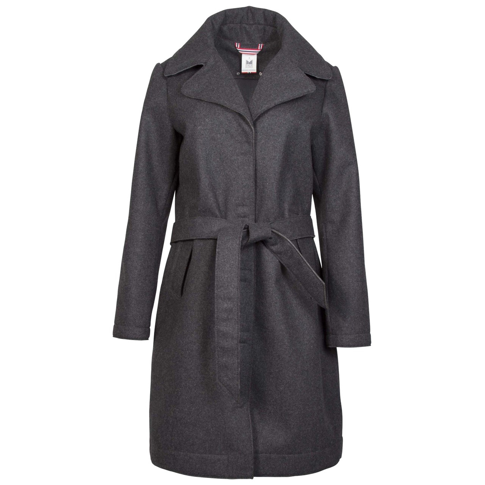 Dale of Norway Yr Woolshell Jacket, Ladies - Dark Charcoal, 85201-E with belt