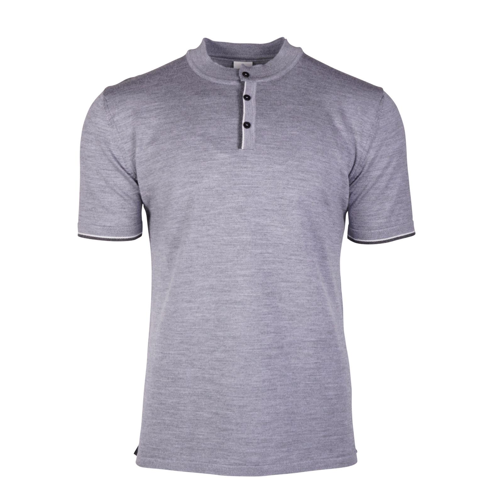 Dale of Norway Fredrik Men's T-shirt, in Smoke/Dark Charcoal/Off White, 93771-C
