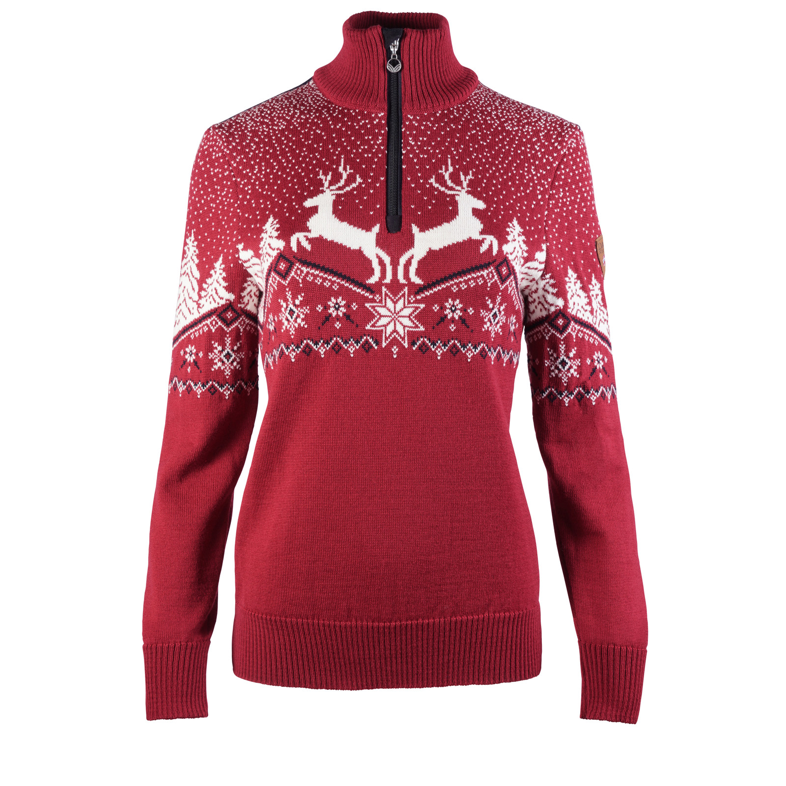Dale of Norway Dale Christmas Sweater, Ladies - Red Rose/Off White/Navy, 93921-B