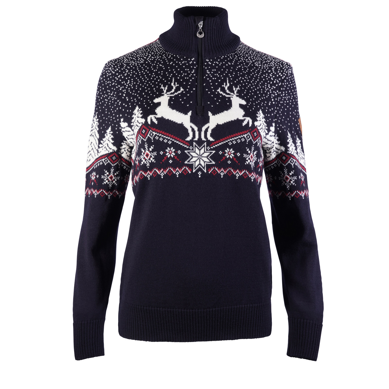 Dale of Norway Dale Christmas Sweater, Ladies - Navy/Off White/Red Rose, 93921-C