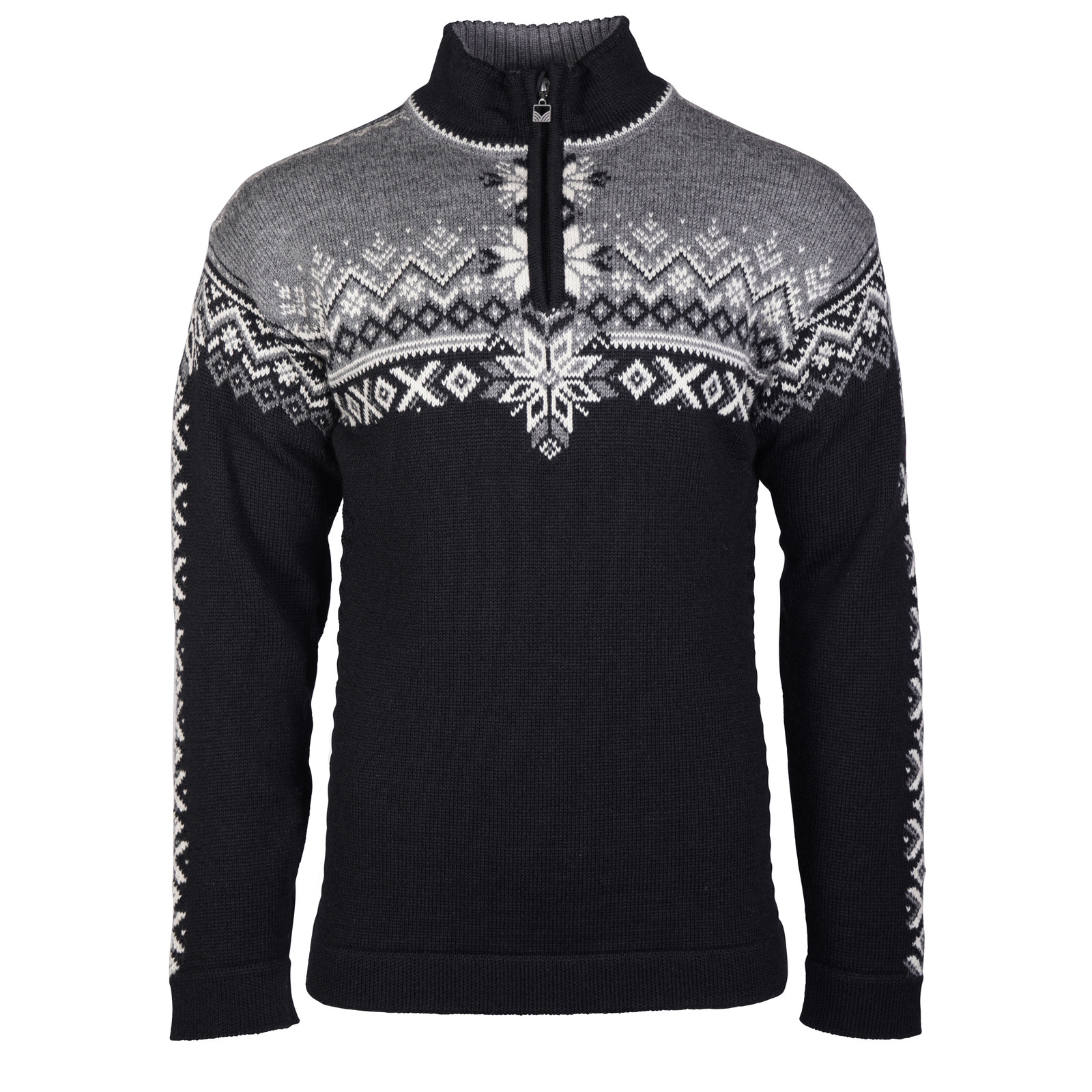 Dale of Norway 140th Anniversary Sweater, Mens - Black/Smoke/Off White, 93951-F