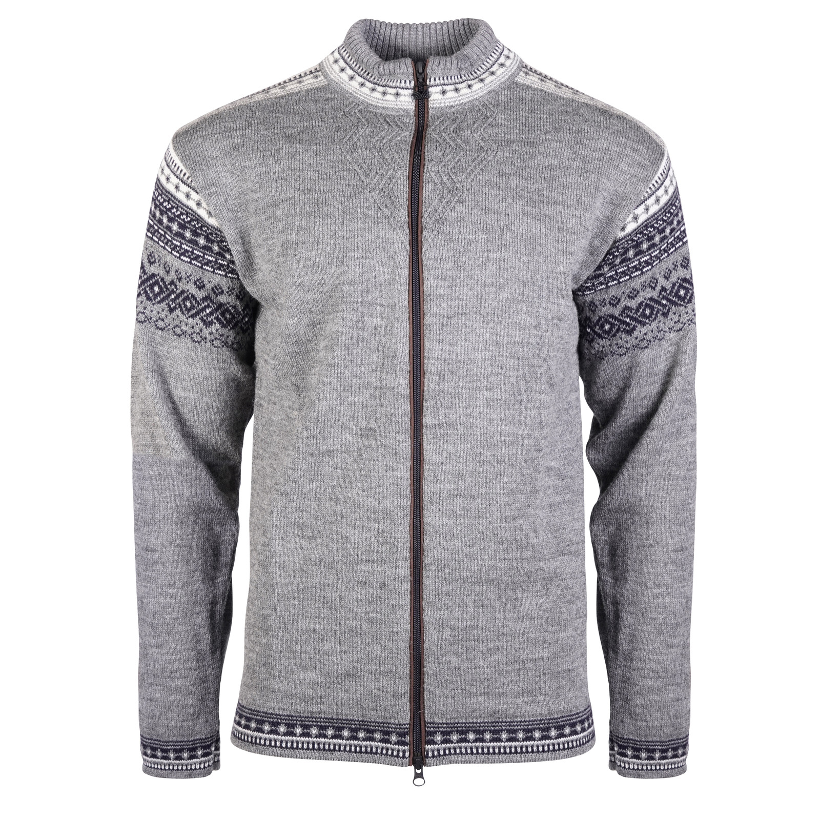 Dale of Norway Bergen Cardigan, Mens - Smoke/Navy/Off White , 83171-E
