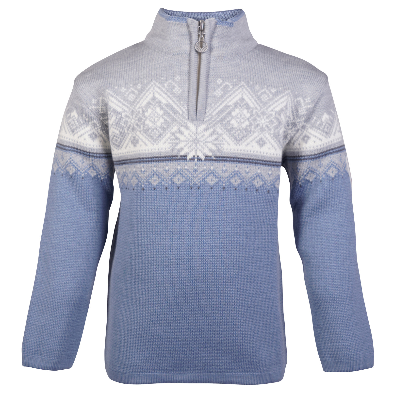 Dale of Norway Moritz Sweater, Childrens - Blue Shadow/Grey/Schiefer/Off White, 9150-D
