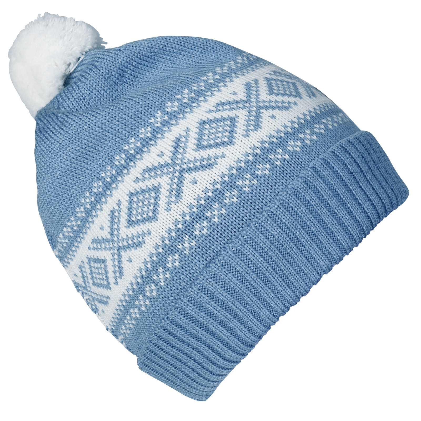 Dale of Norway Cortina Kids Hat 4-8, Blue Shadow/Off White, 43341-D