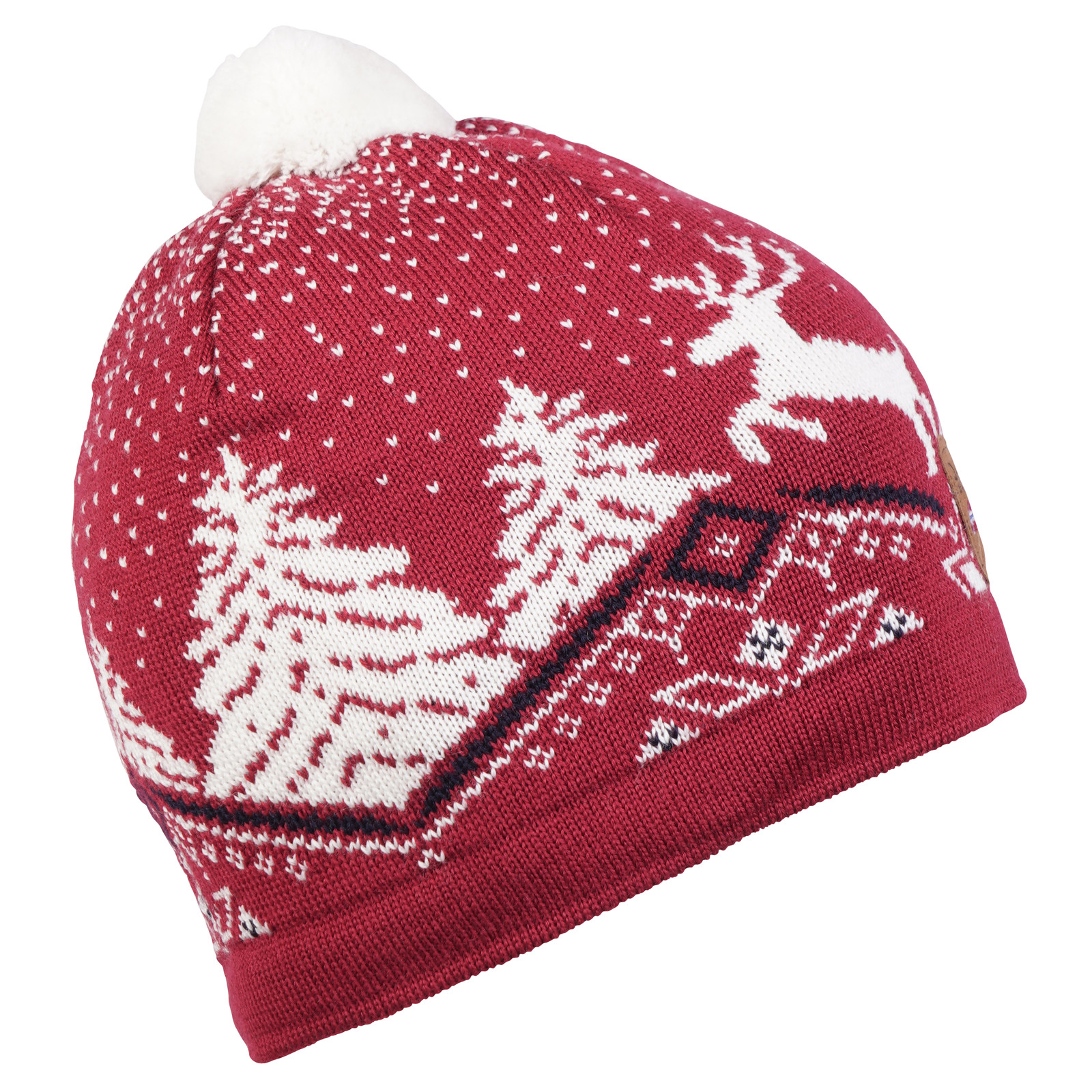 Dale of Norway Christmas Hat - Raspberry/Off White/Navy 48291-B