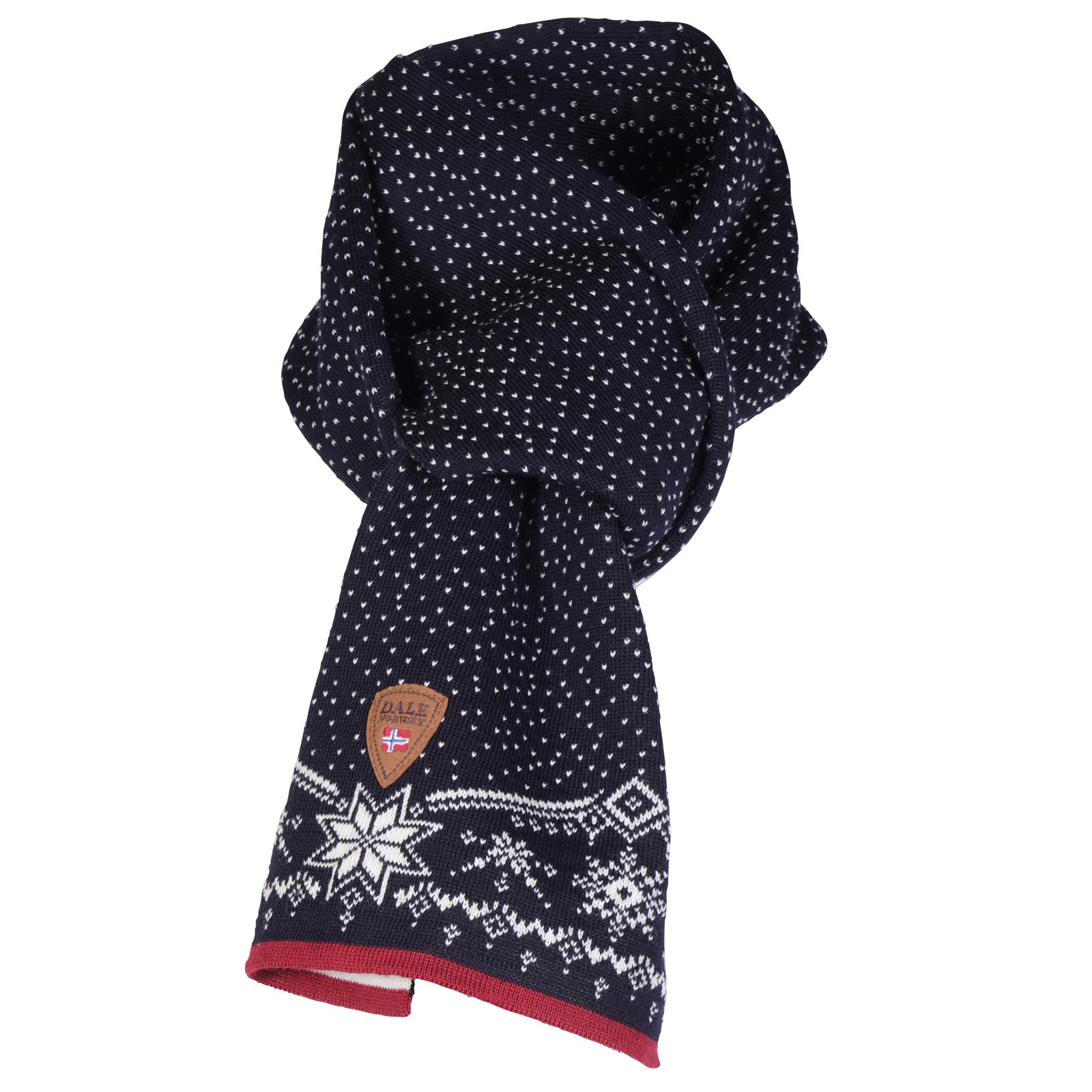 Dale of Norway Dale Christmas Scarf - Navy/Off White/Raspberry, 11711-C
