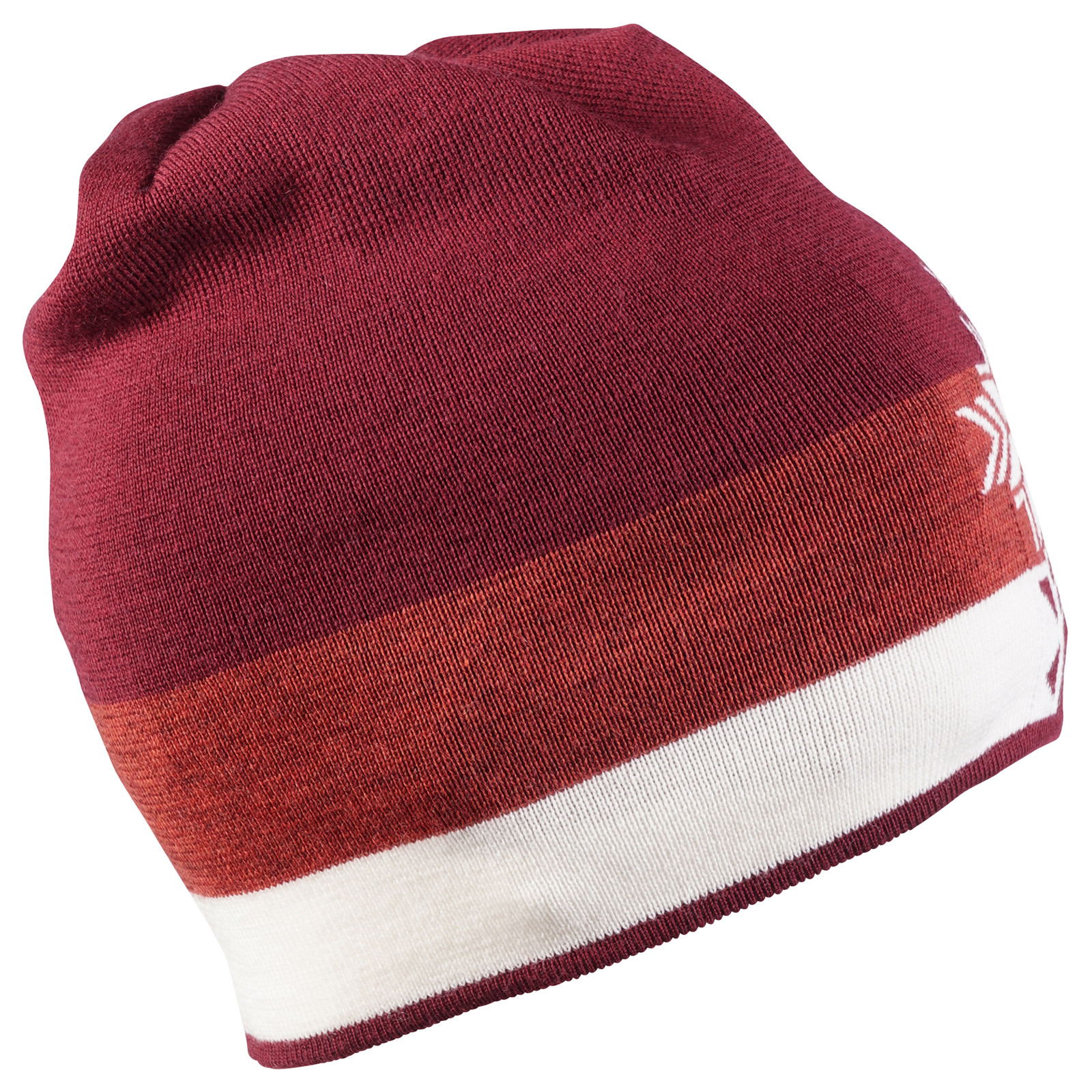 Dale of Norway Geilolia Hat - Ruby Mel/Rust Mel/Off White, 48261-V
