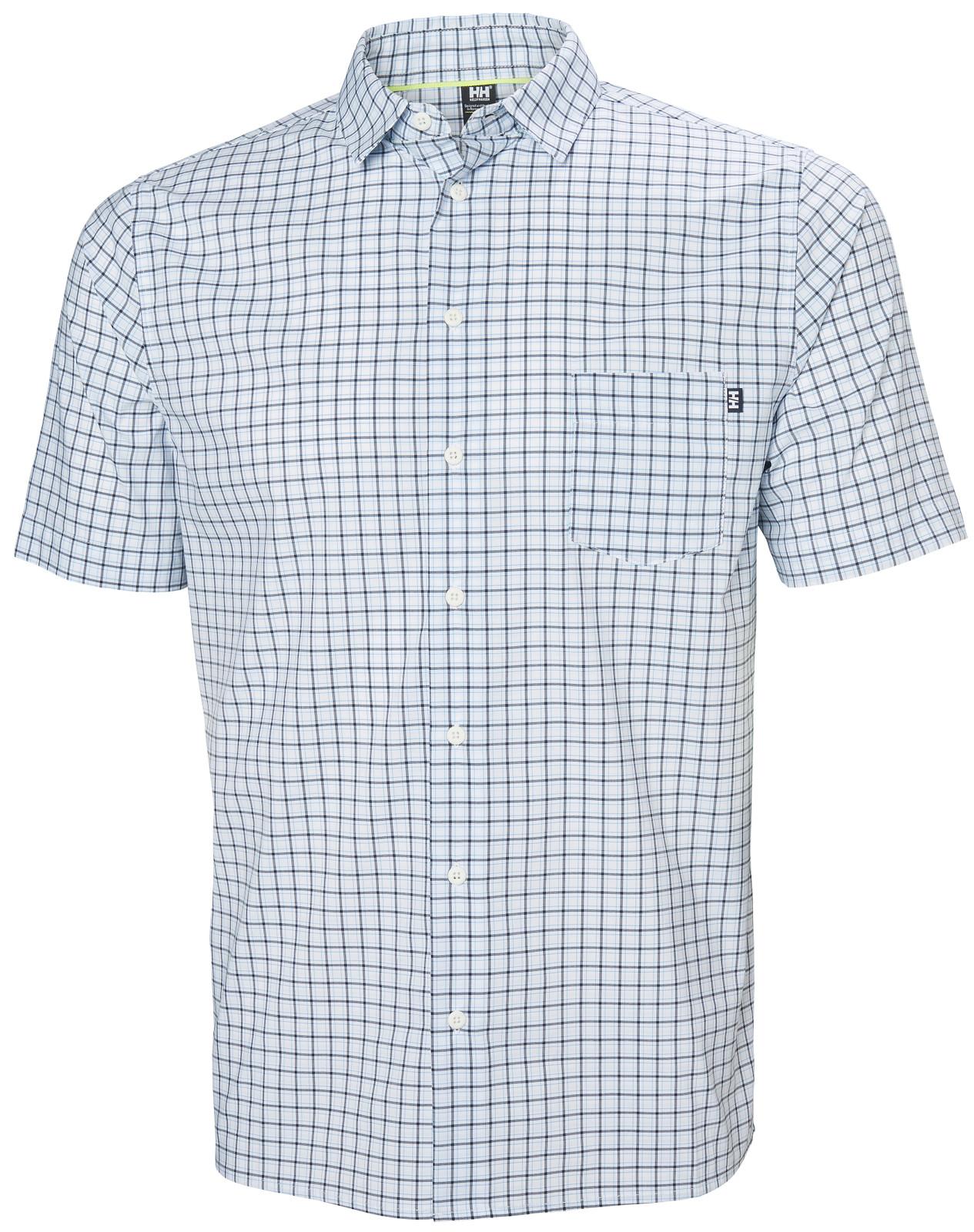 Helly Hansen Fjord QD SS Shirt, Men's - White Check, 34048-001