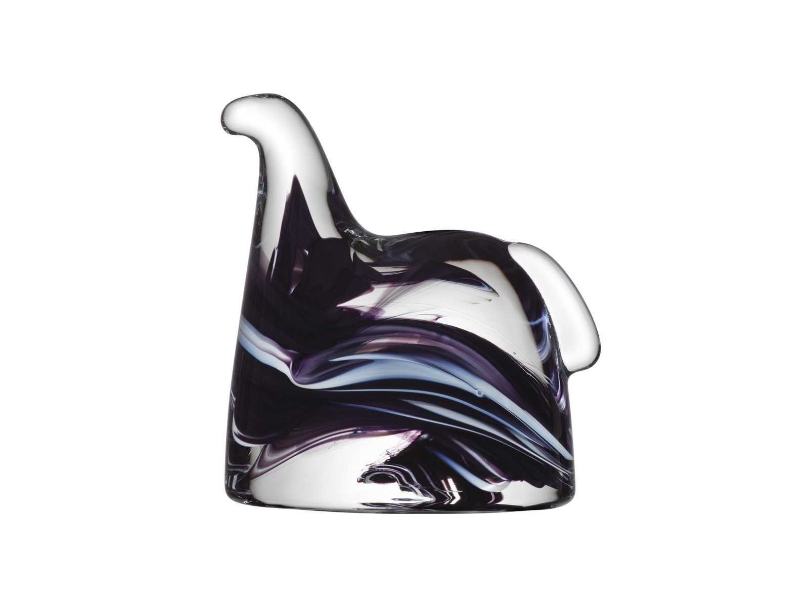 Kosta Boda Glass Swedish Horse, Black & White (7090624)