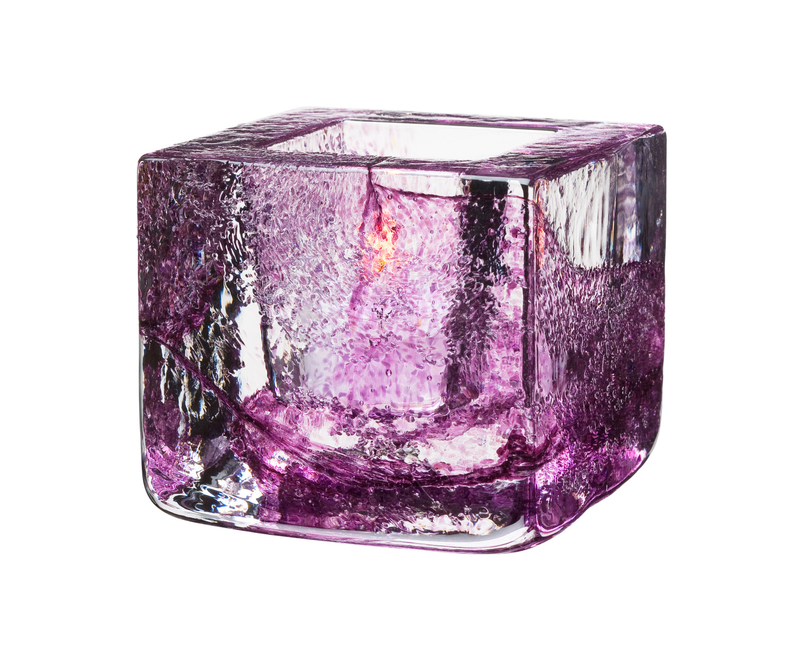 Kosta Boda Brick Votive, Purple (7061034)