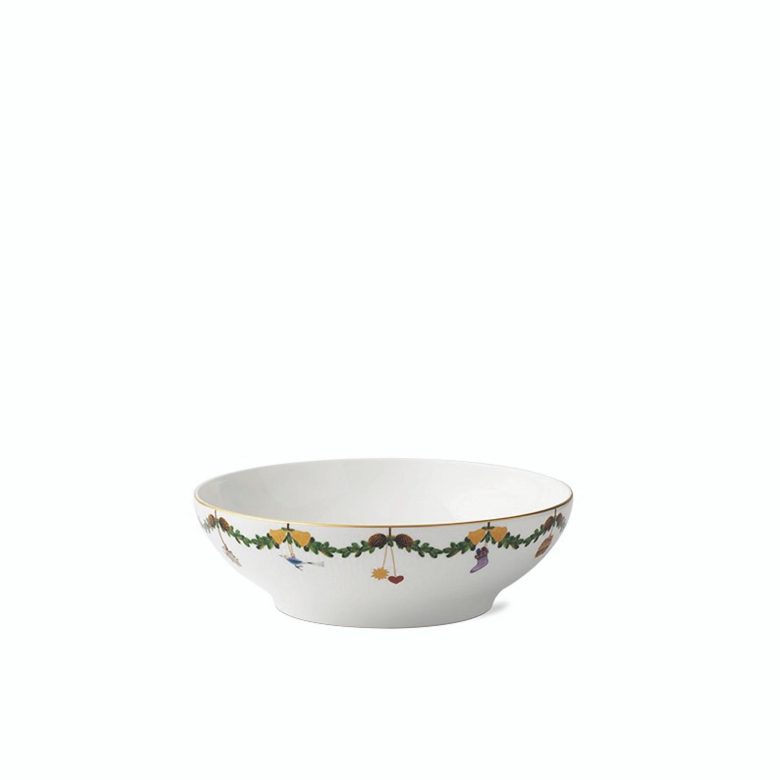 "Royal Copenhagen Star Fluted Christmas Serving Bowl, 9.8"" (1026460)"