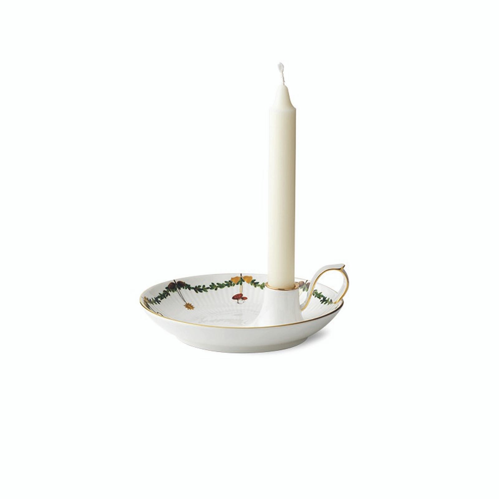 """Royal Copenhagen Star Fluted Christmas Candlestick, 7"""" (1024778)"""